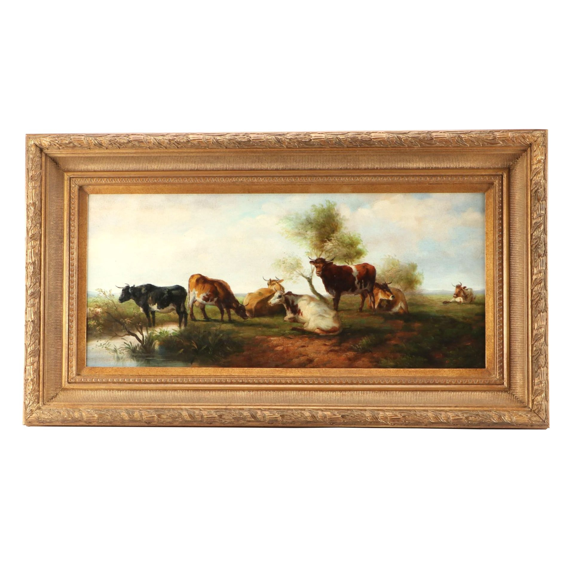 Contemporary Oil Painting of a Pastoral Landscape