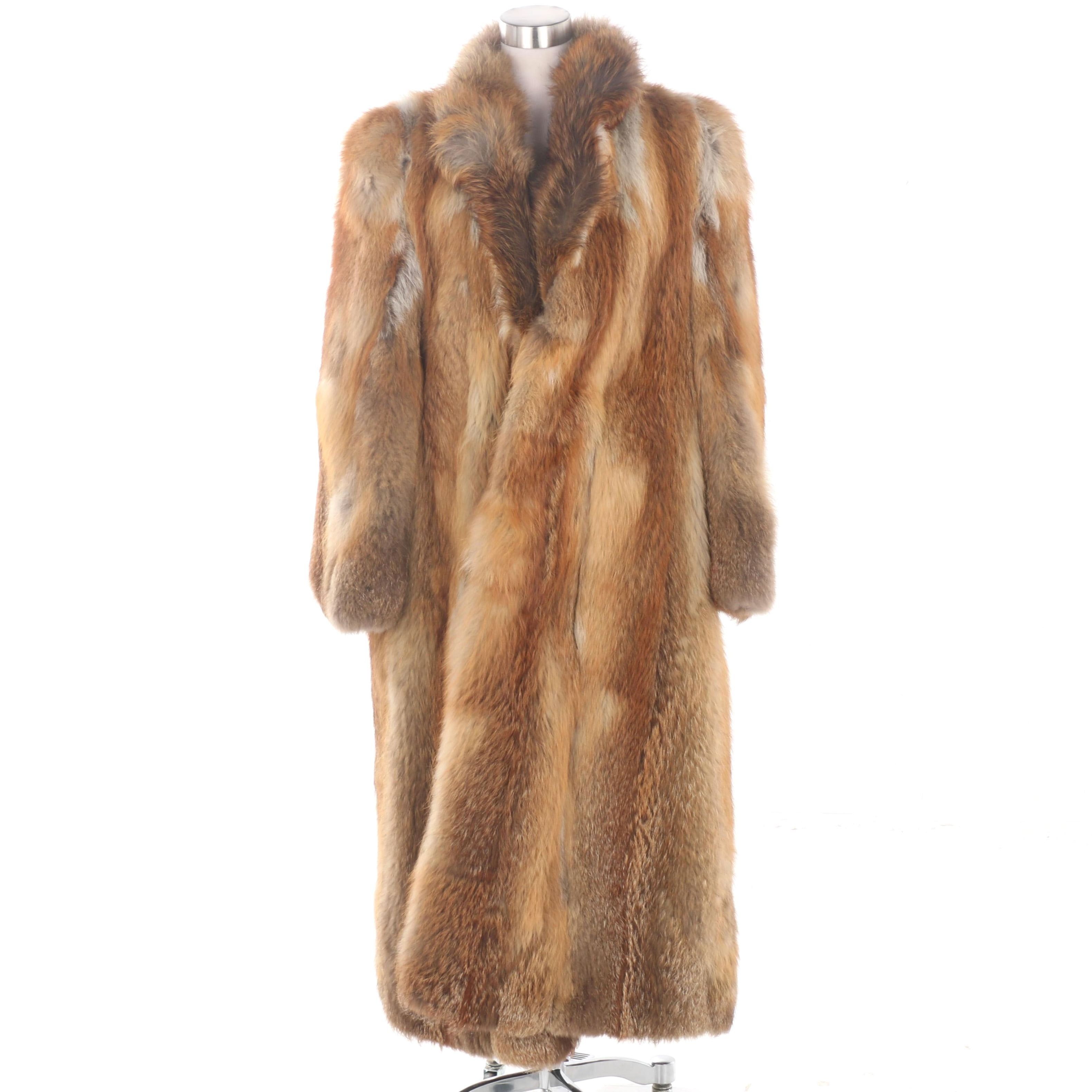 Women's Vintage J. Galistinos Co. Red Fox Fur Coat
