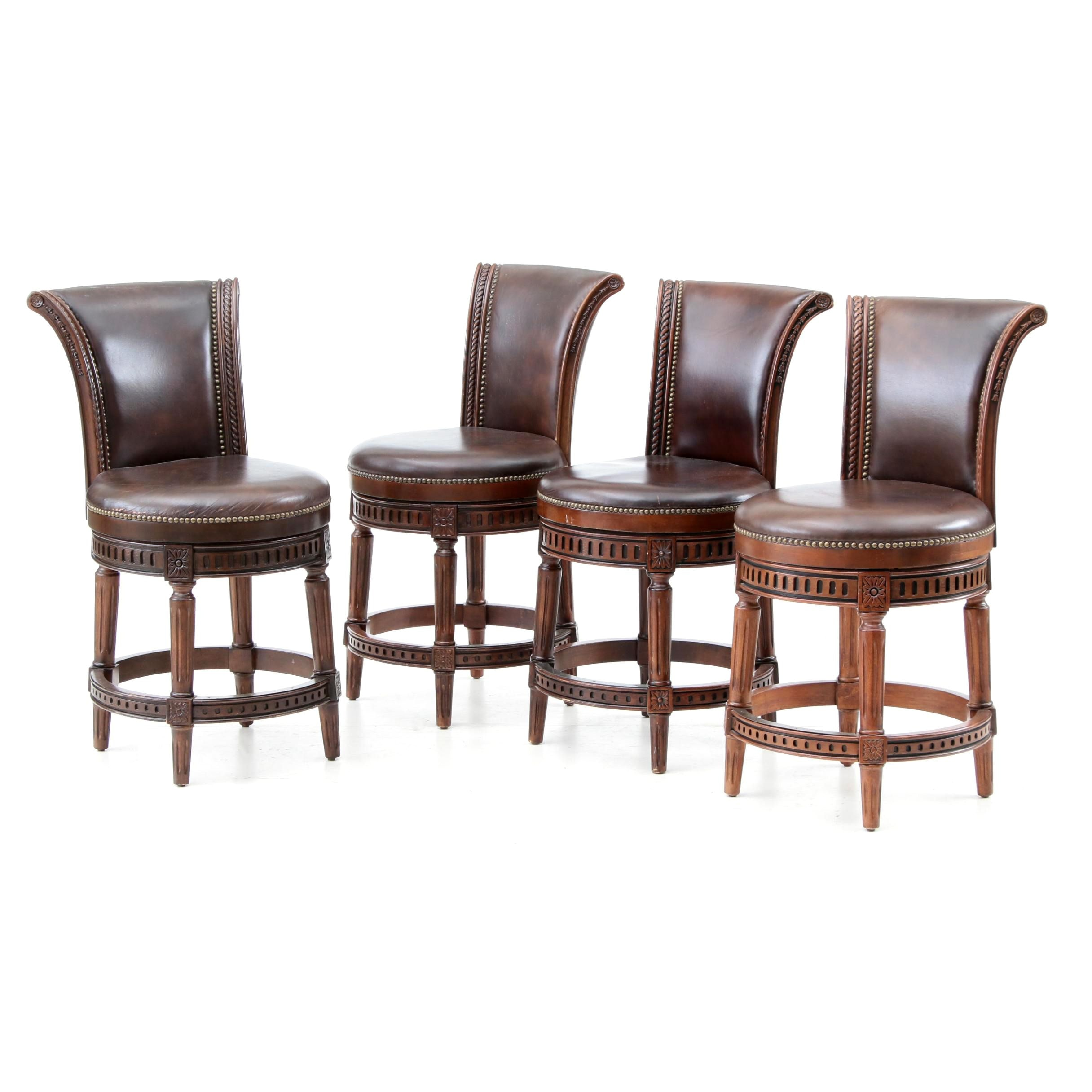 "Set of Four Frontgate ""Chapman"" Counter Stools"