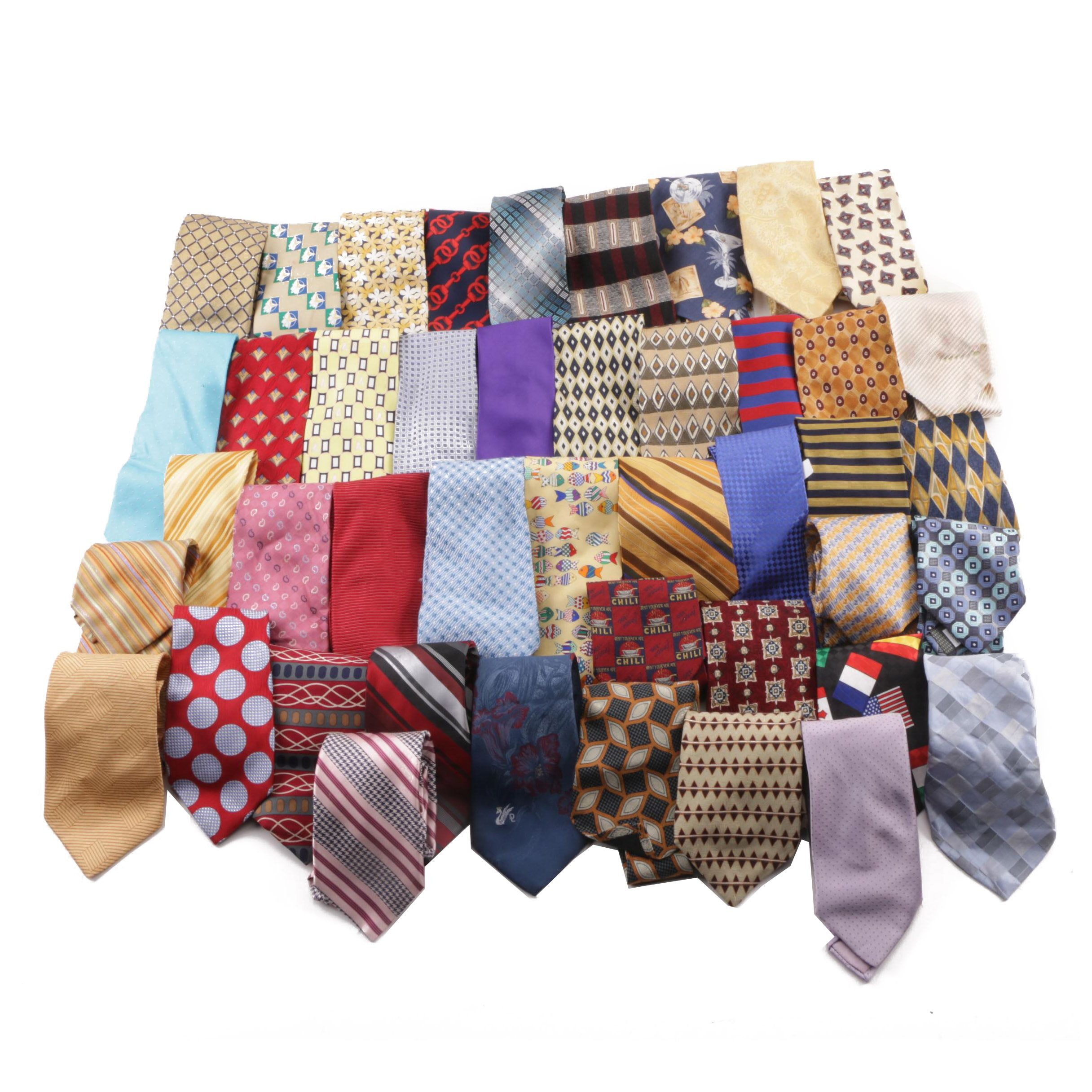 Men's Neckties including Brooks Brothers, Tommy Hilfiger and Izod
