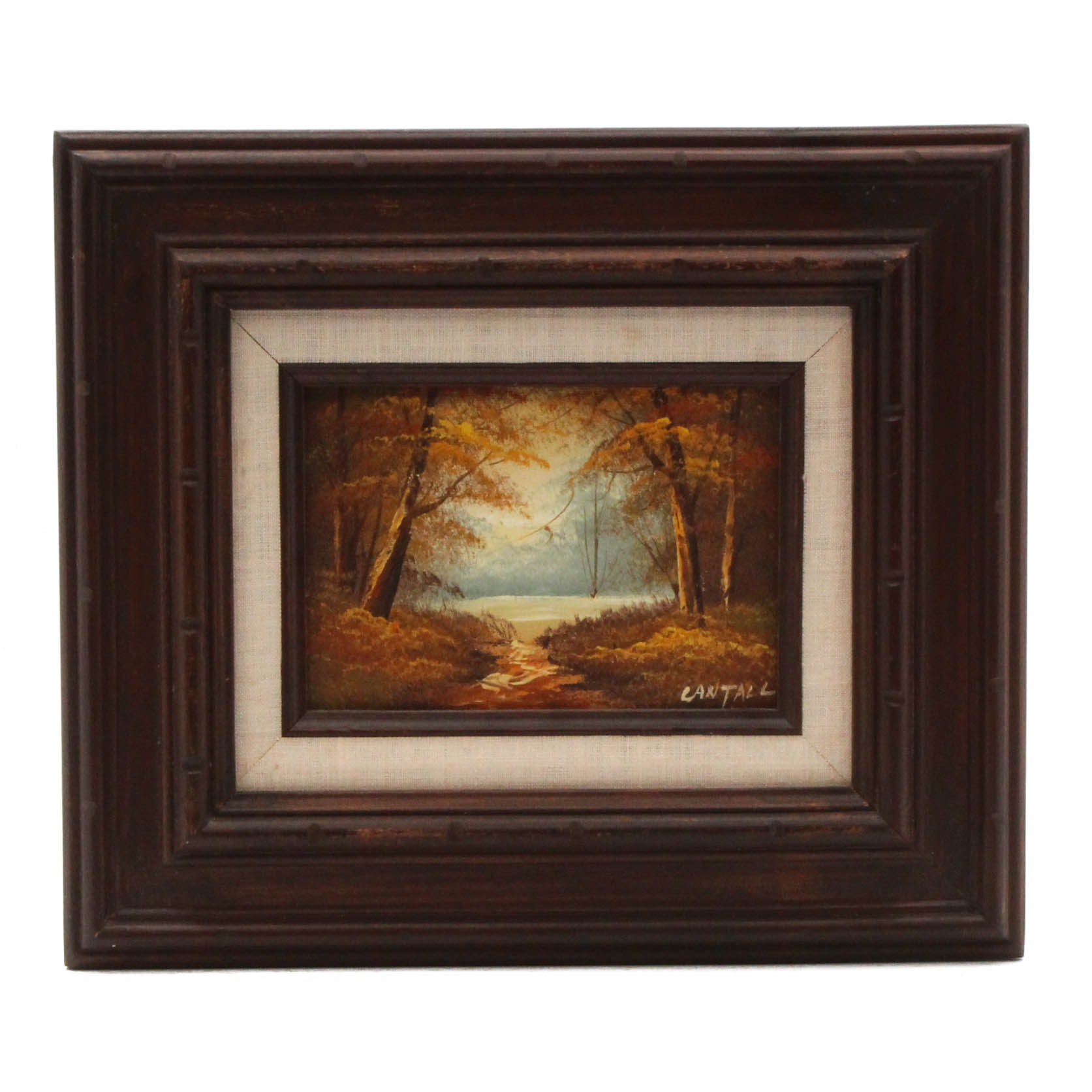 Lantall Oil Painting of Autumnal Landscape