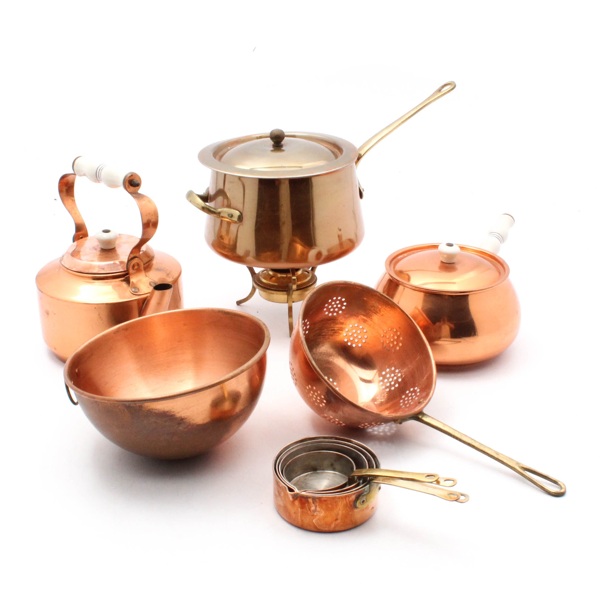 Copper Cookware and Teapot