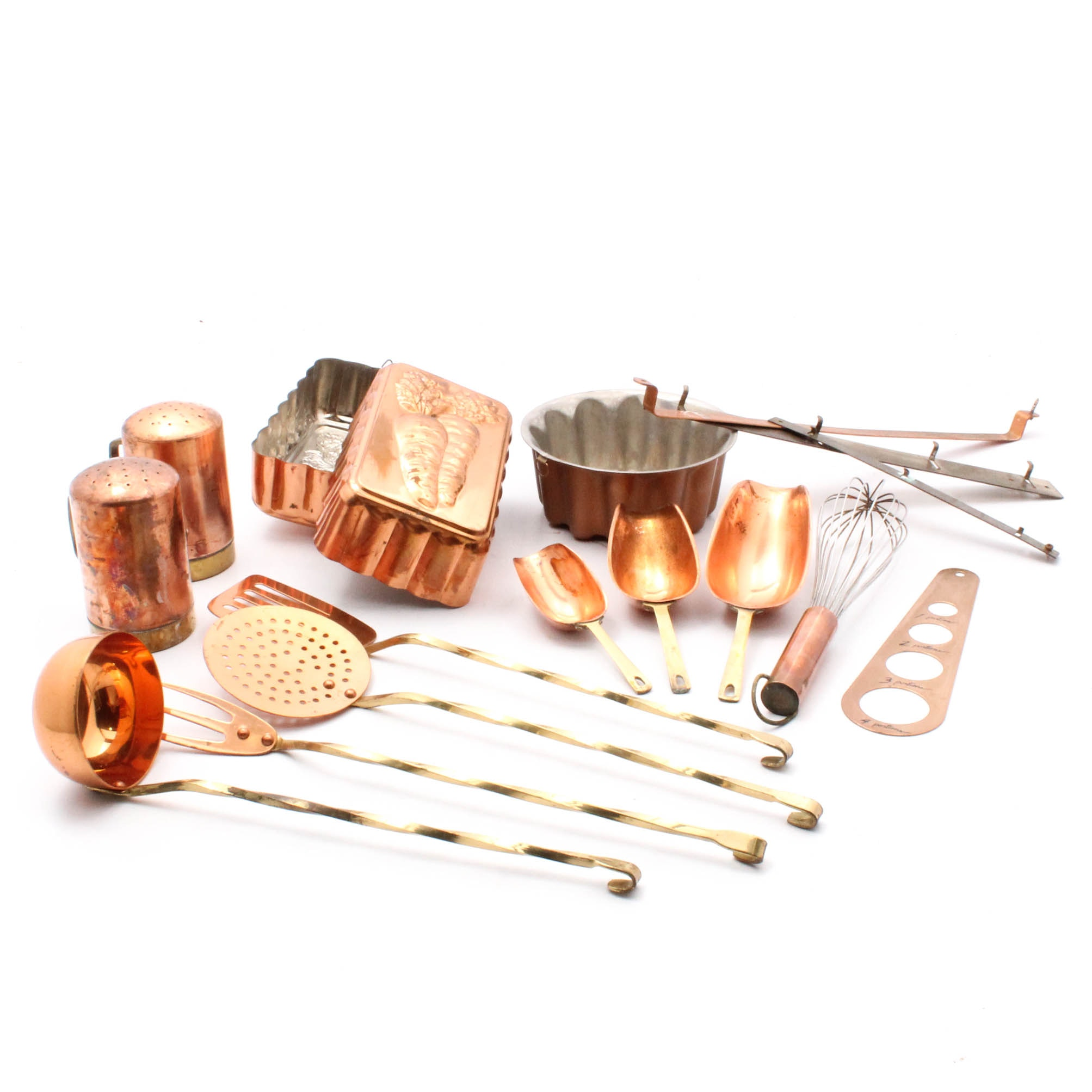Copper Kitchenware Selection