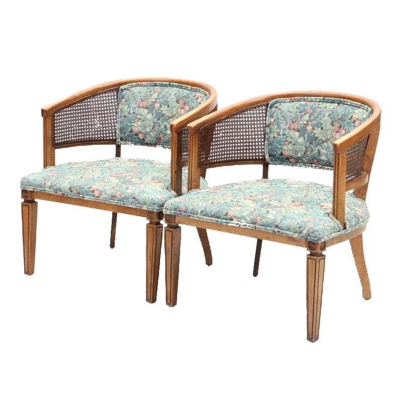 Vintage Barrel-Back Armchairs