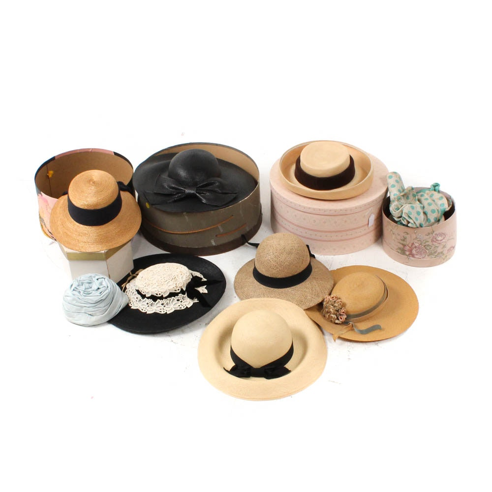Vintage Hats and Decorative Hat Boxes Featuring Michael Terre