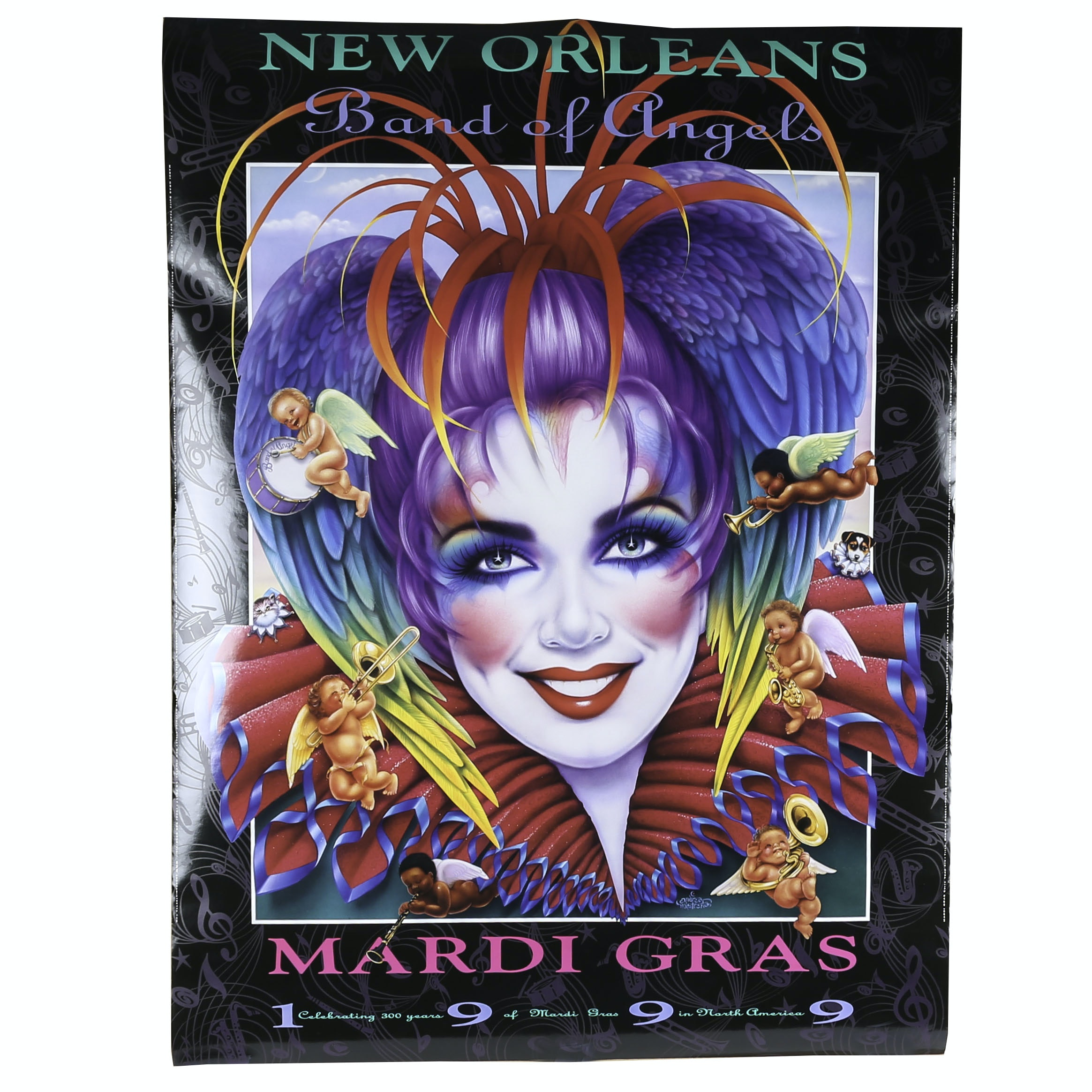 Offset Lithograph 1999 Mardi Gras Poster after Andrea Mistretta