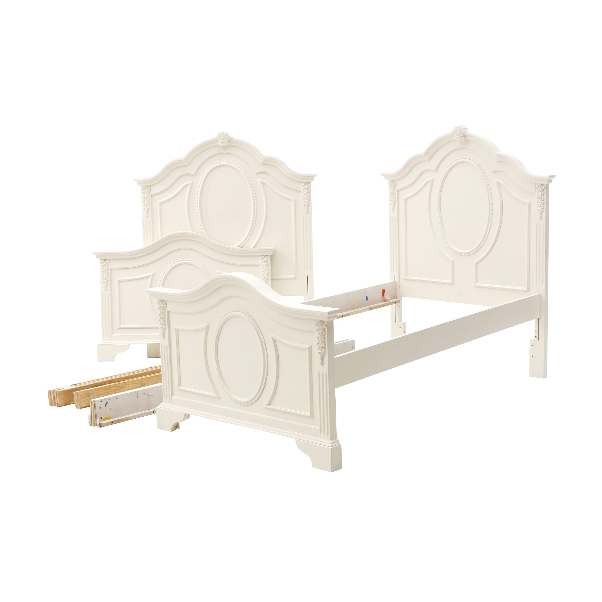 Twin Beds in White by Furniture Fair