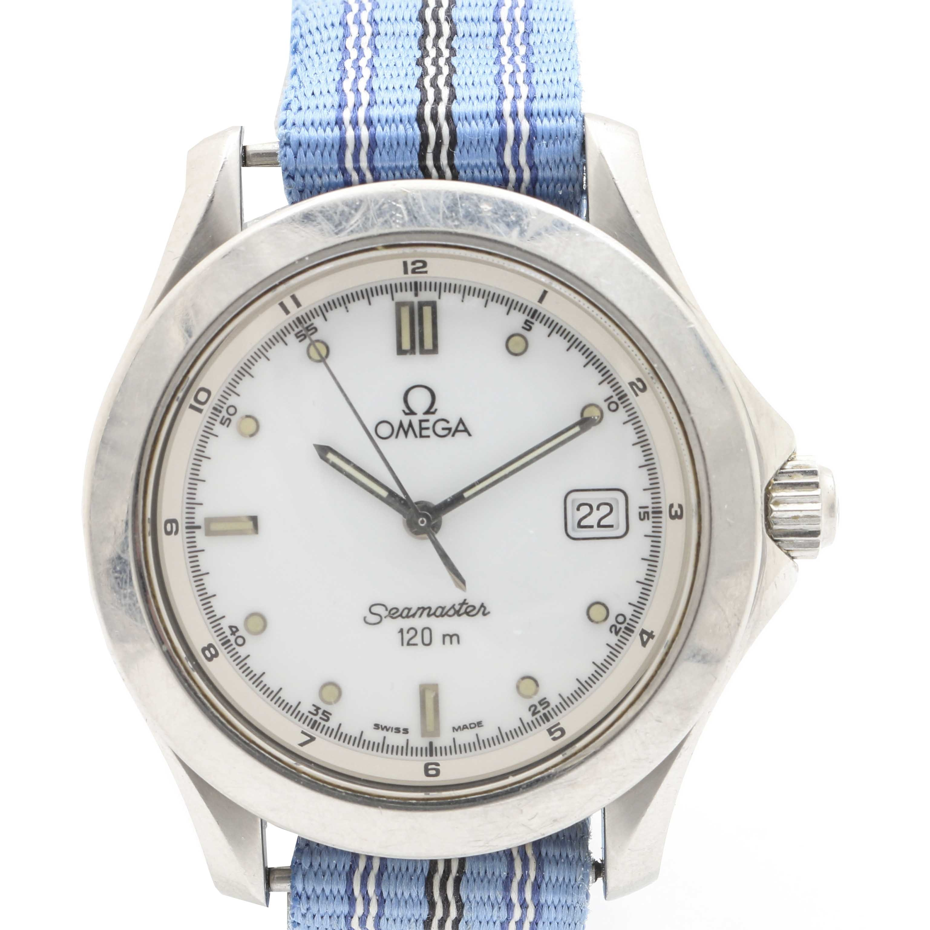 "Omega ""Seamaster"" Stainless Steel Analog Wristwatch"