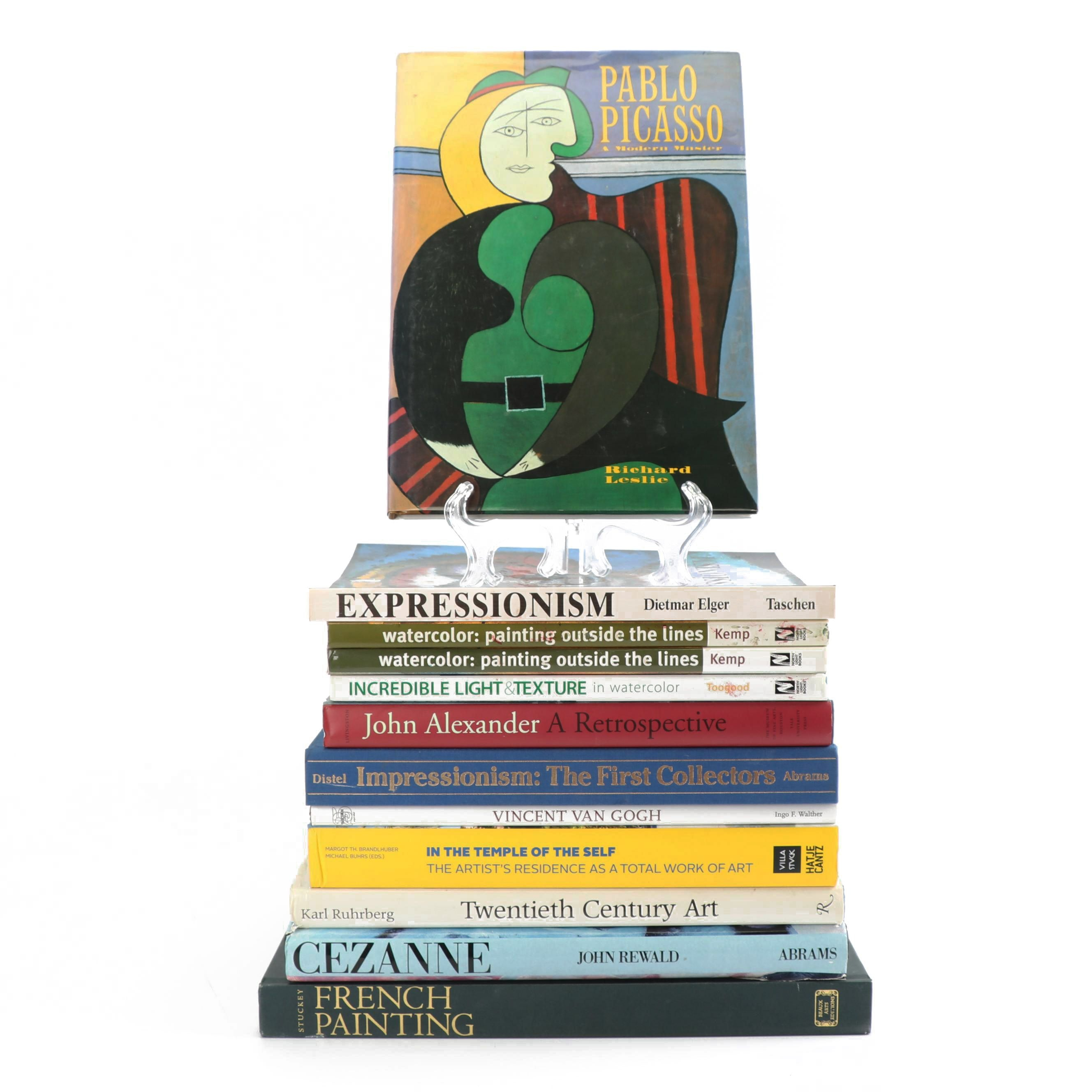 "Art Books including ""John Alexander: A Retrospective"" by Jane Livingstone"