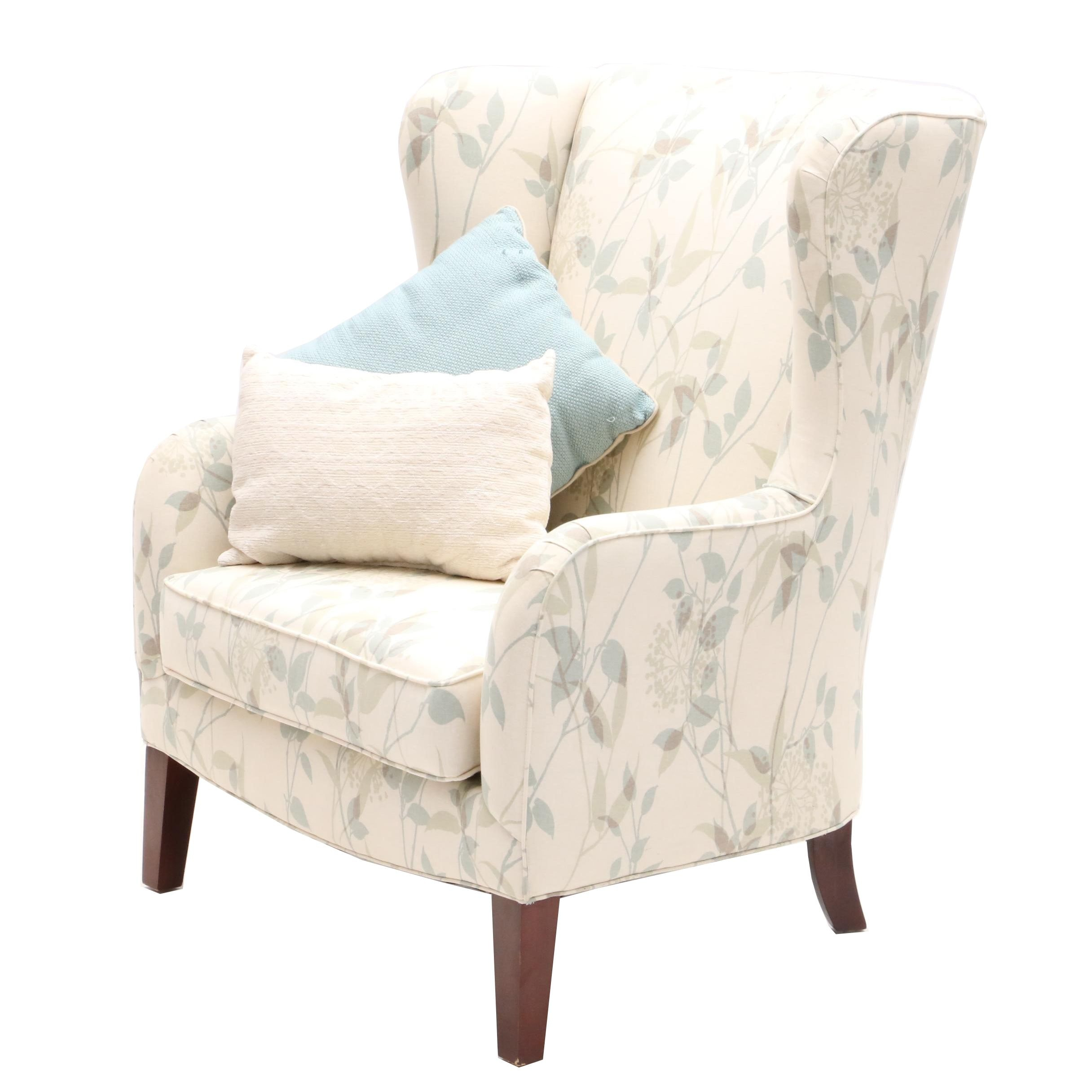 Contemporary Wingback Chair by Front Room Furnishings