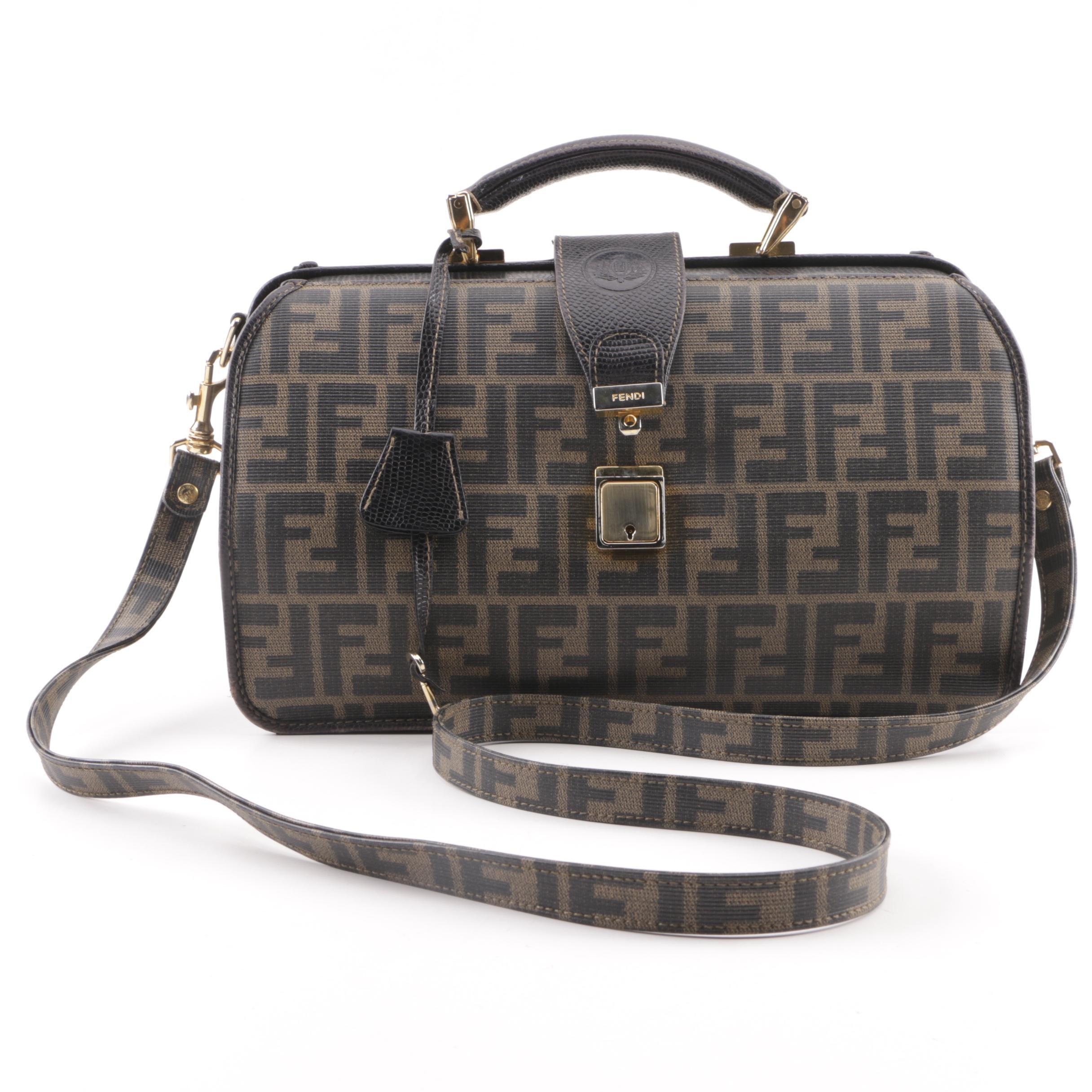 Fendi Monogram Canvas Neiman Marcus Exclusive Doctor Bag