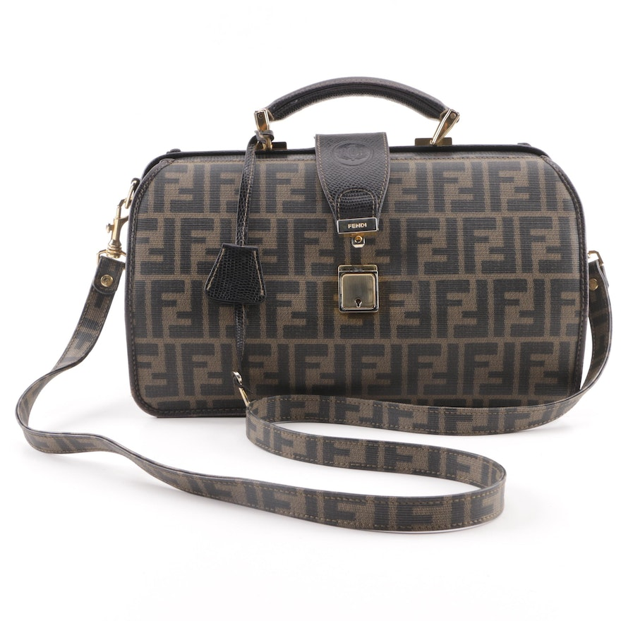 7716d9030fed Fendi Monogram Canvas Neiman Marcus Exclusive Doctor Bag   EBTH
