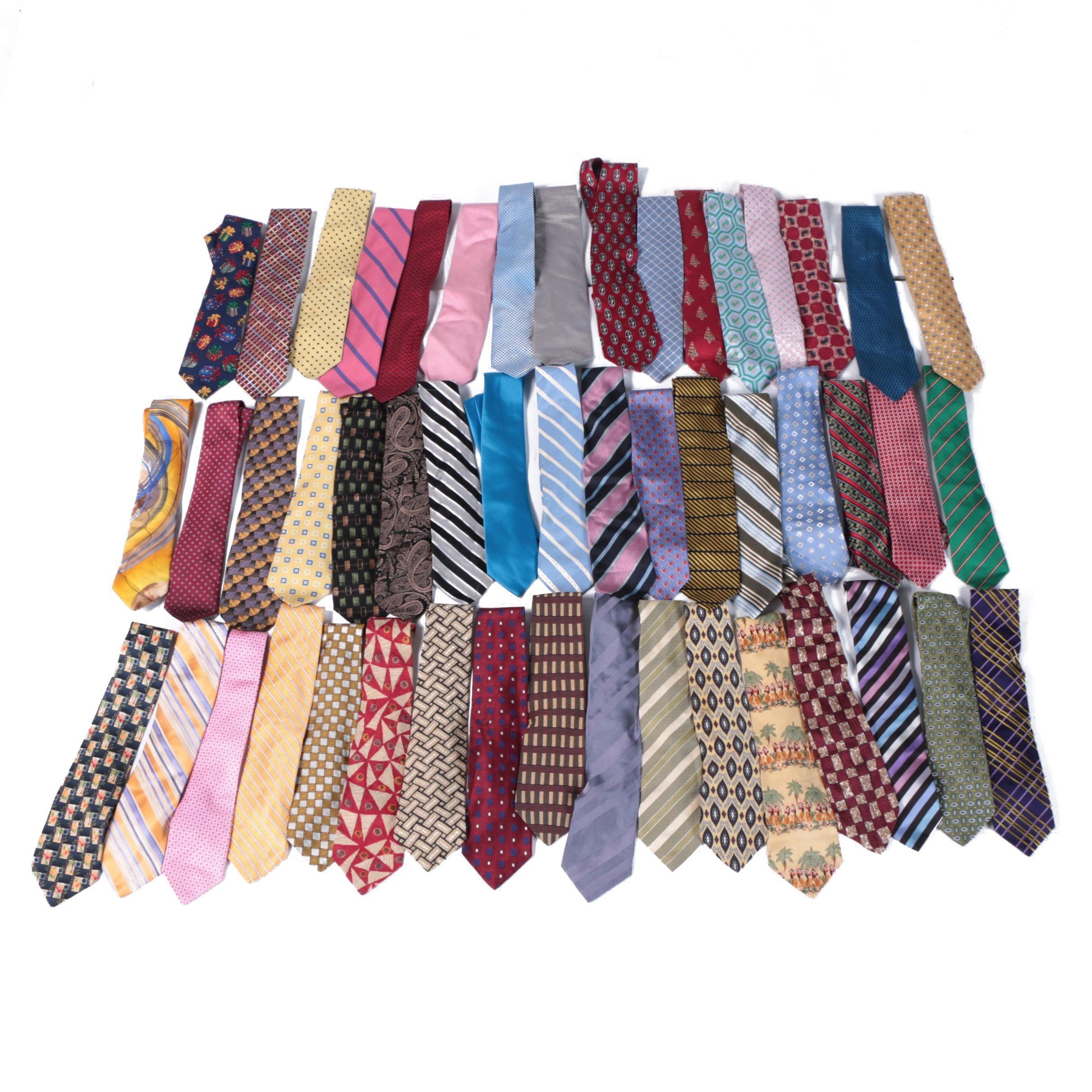 Men's Neckties featuring Geoffrey Beene, Nautica, Bugatti, and Ted Baker