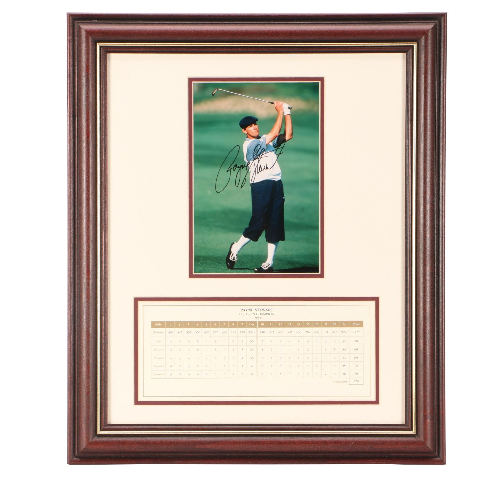 Payne Stewart Signed Golf Display  COA