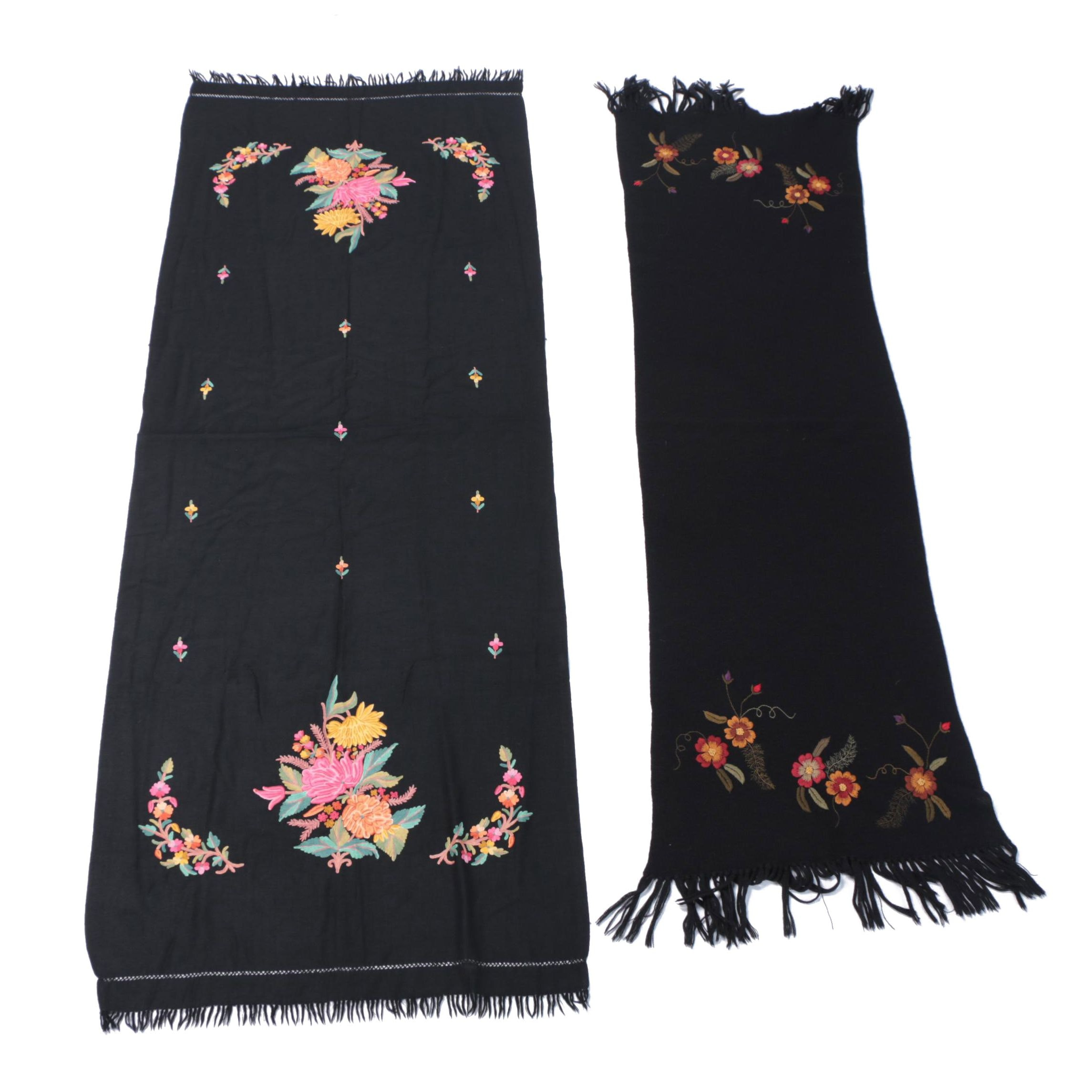 Frenkel's Floral Embroidered Scarves