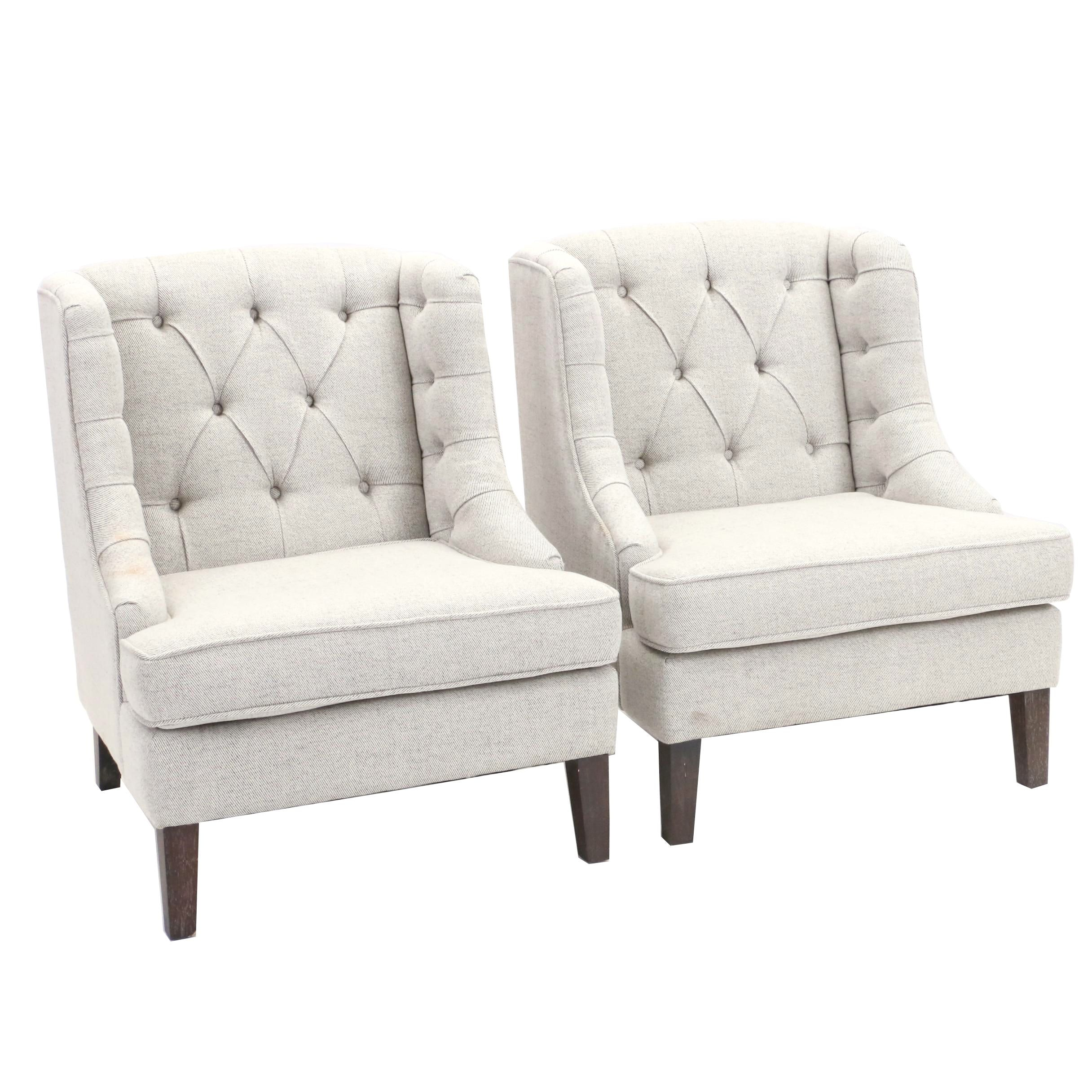 Pair of Wing Back Armchairs