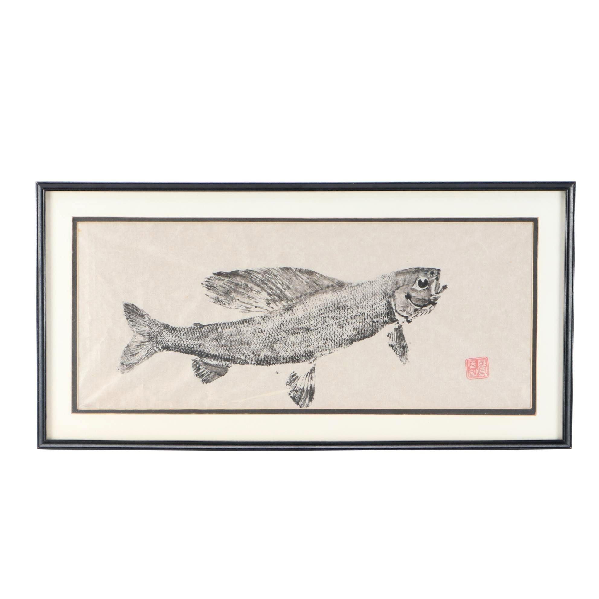 Japanese Gyotaku Fish Print