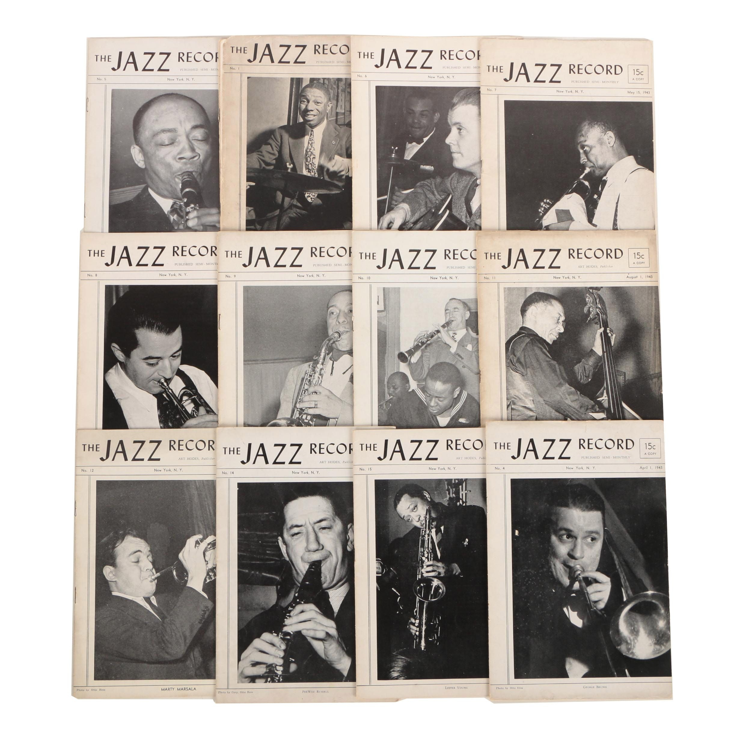 "Ex-Libris Jack Bradley 1943 ""Jazz Record"" Magazines"