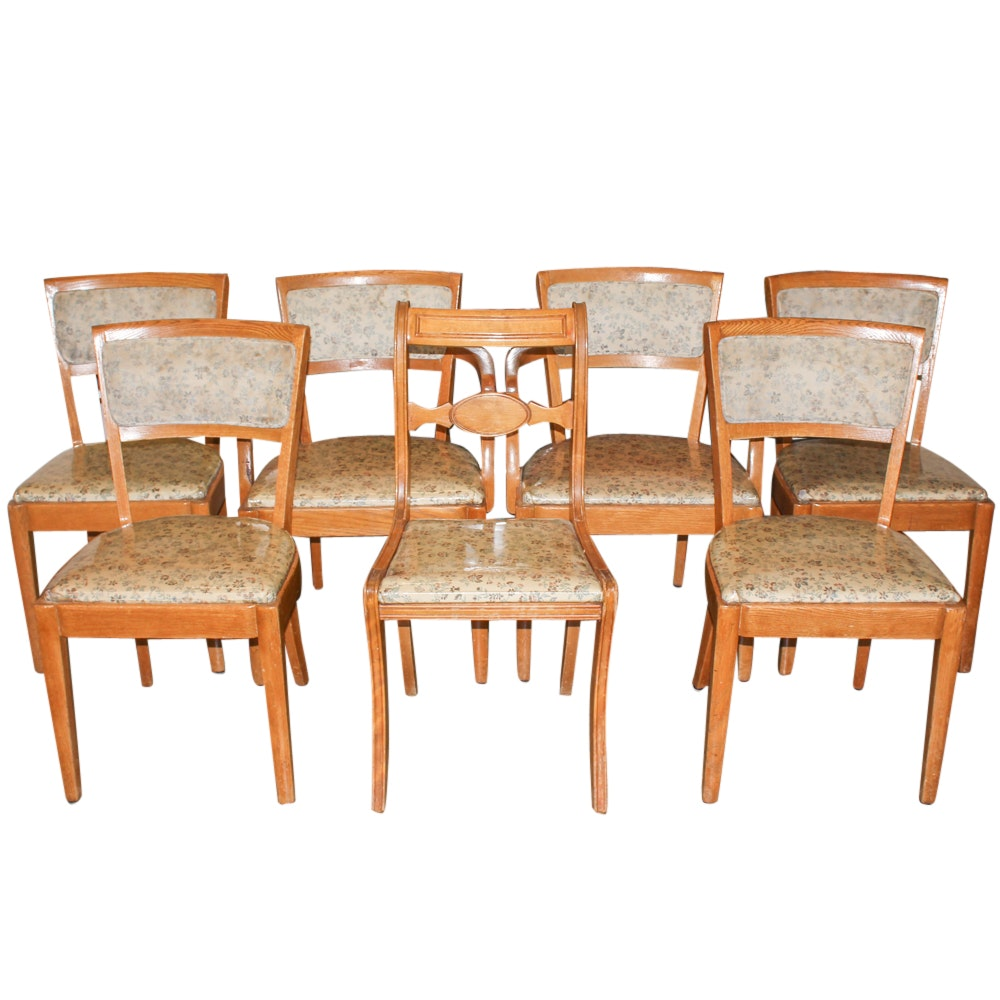 Vintage Upholstered Dining Chairs