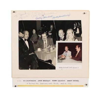 Jack Bradley and Bobby Hackett Autographed Photographs