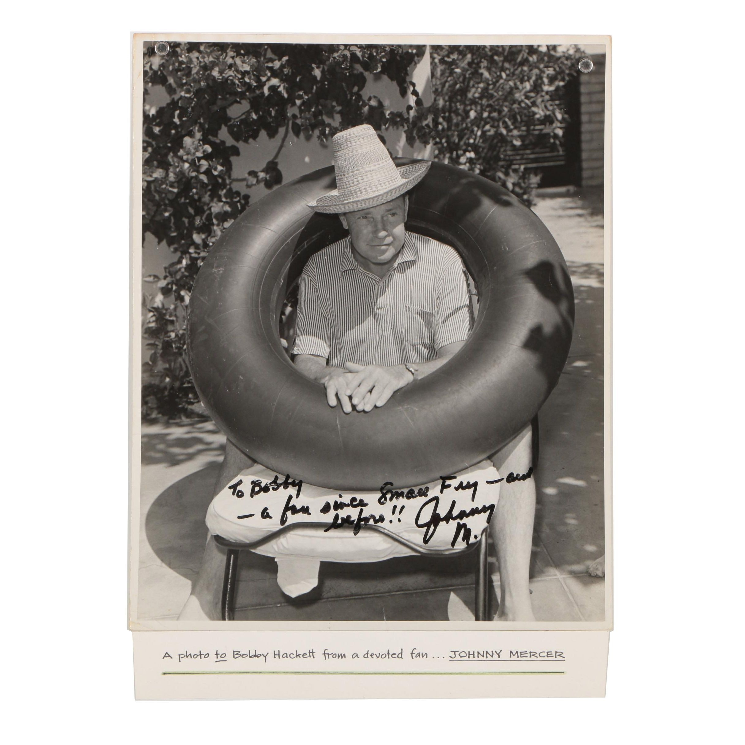 Johnny Mercer Autographed Celebrity Photograph