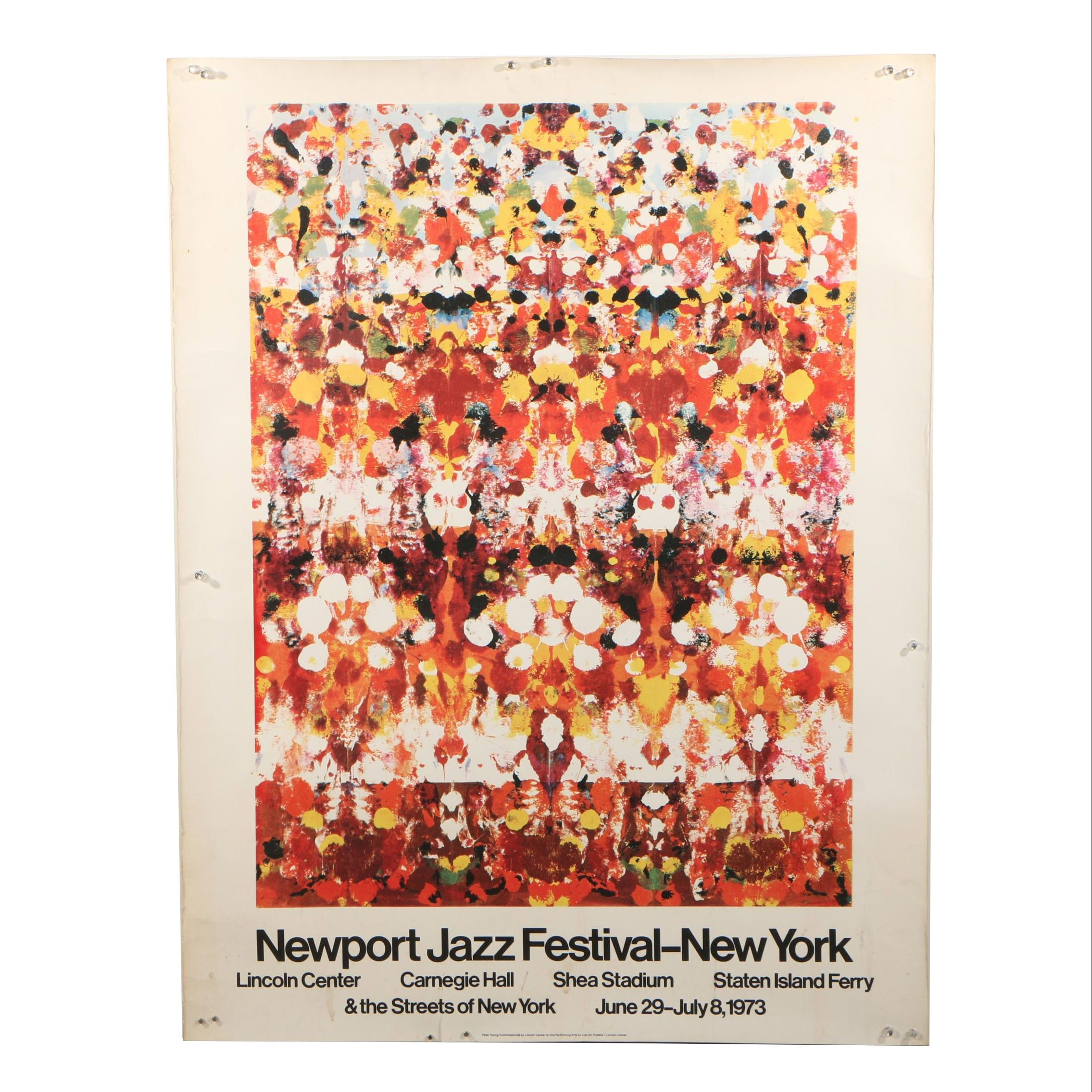 1973 Newport Jazz Festival - New York Offset Lithograph Poster