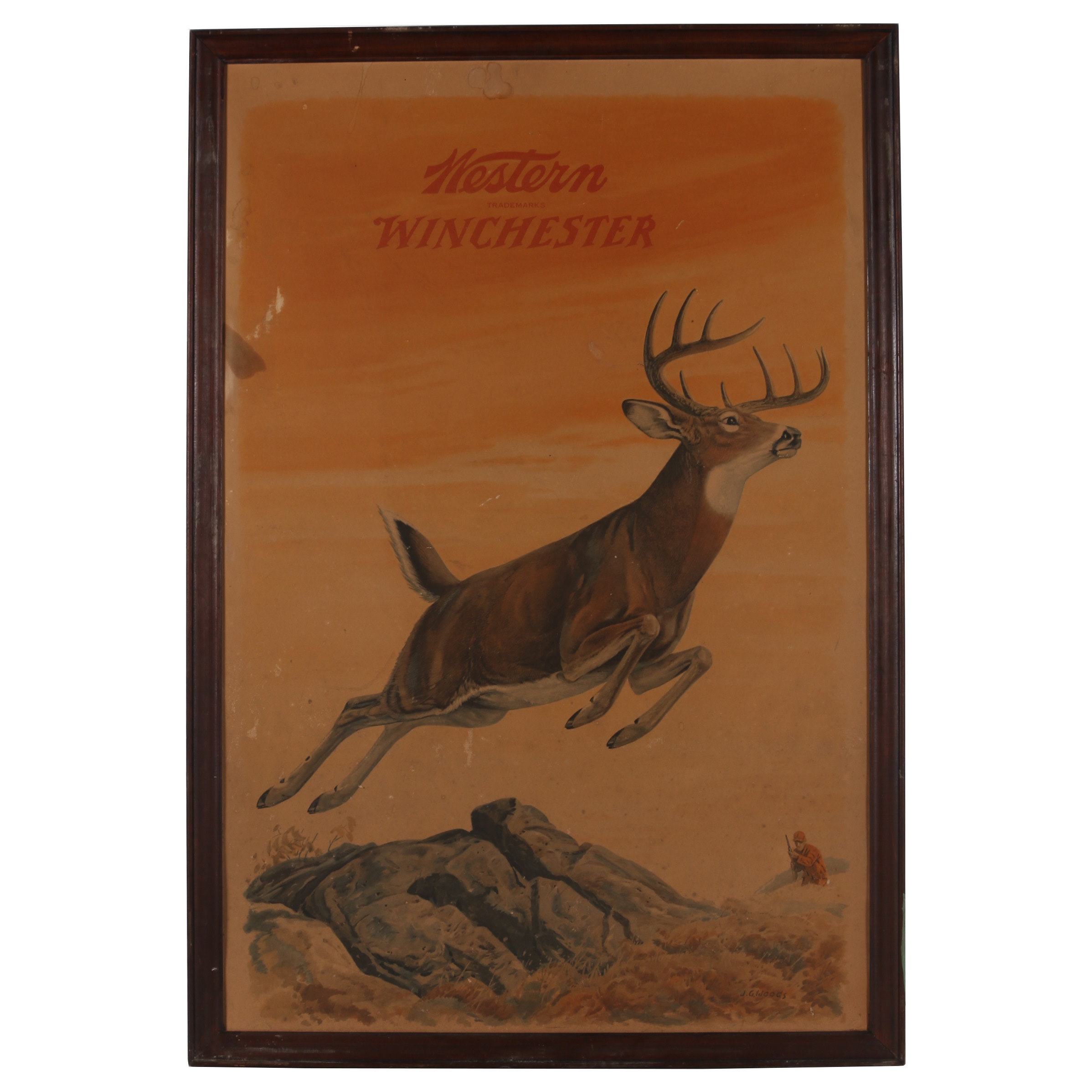 """Offset Lithograph after J. G. Woods """"Western Winchester"""""""