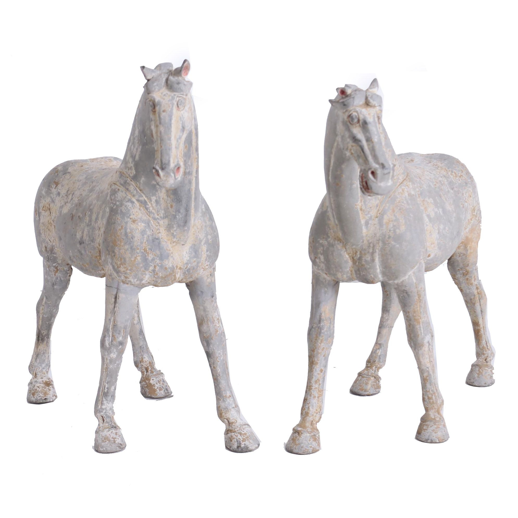 Tang Dynasty Painted Ceramic Horses