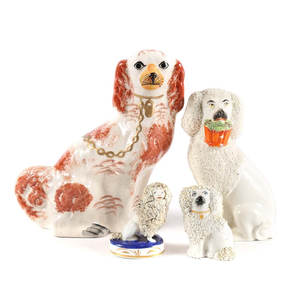 19th Century Staffordshire Dog Grouping