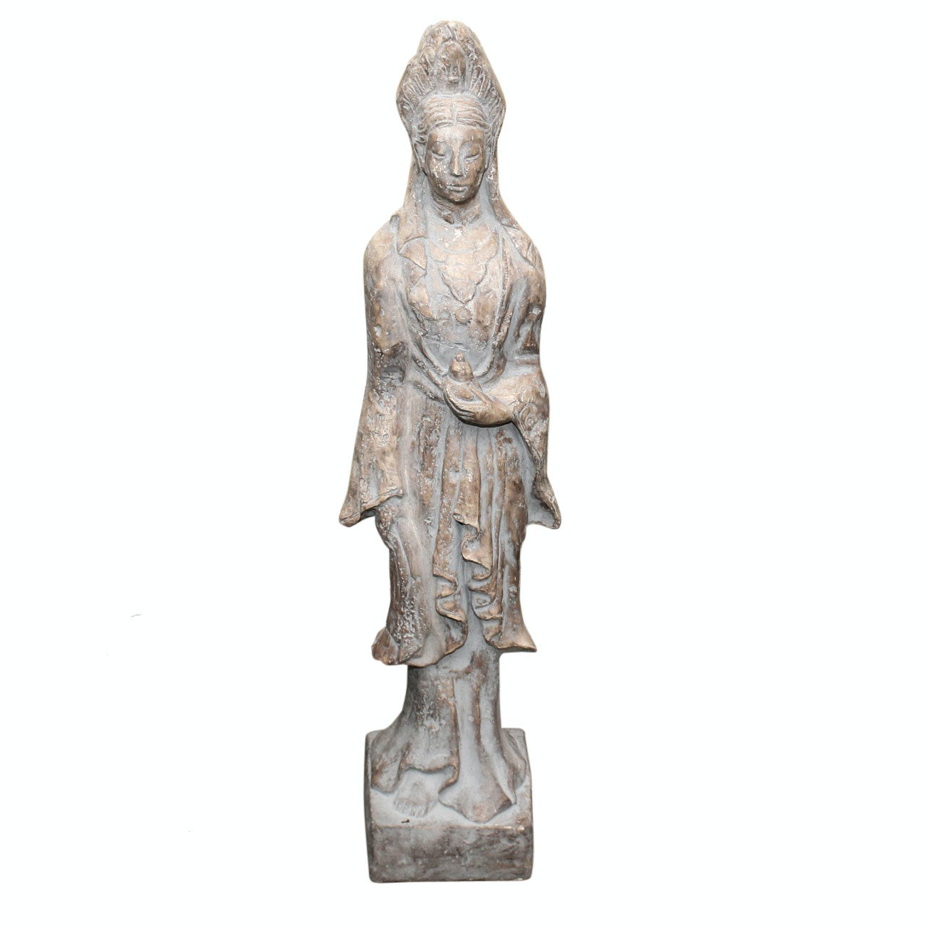 Plaster Quan Yin Style Statue