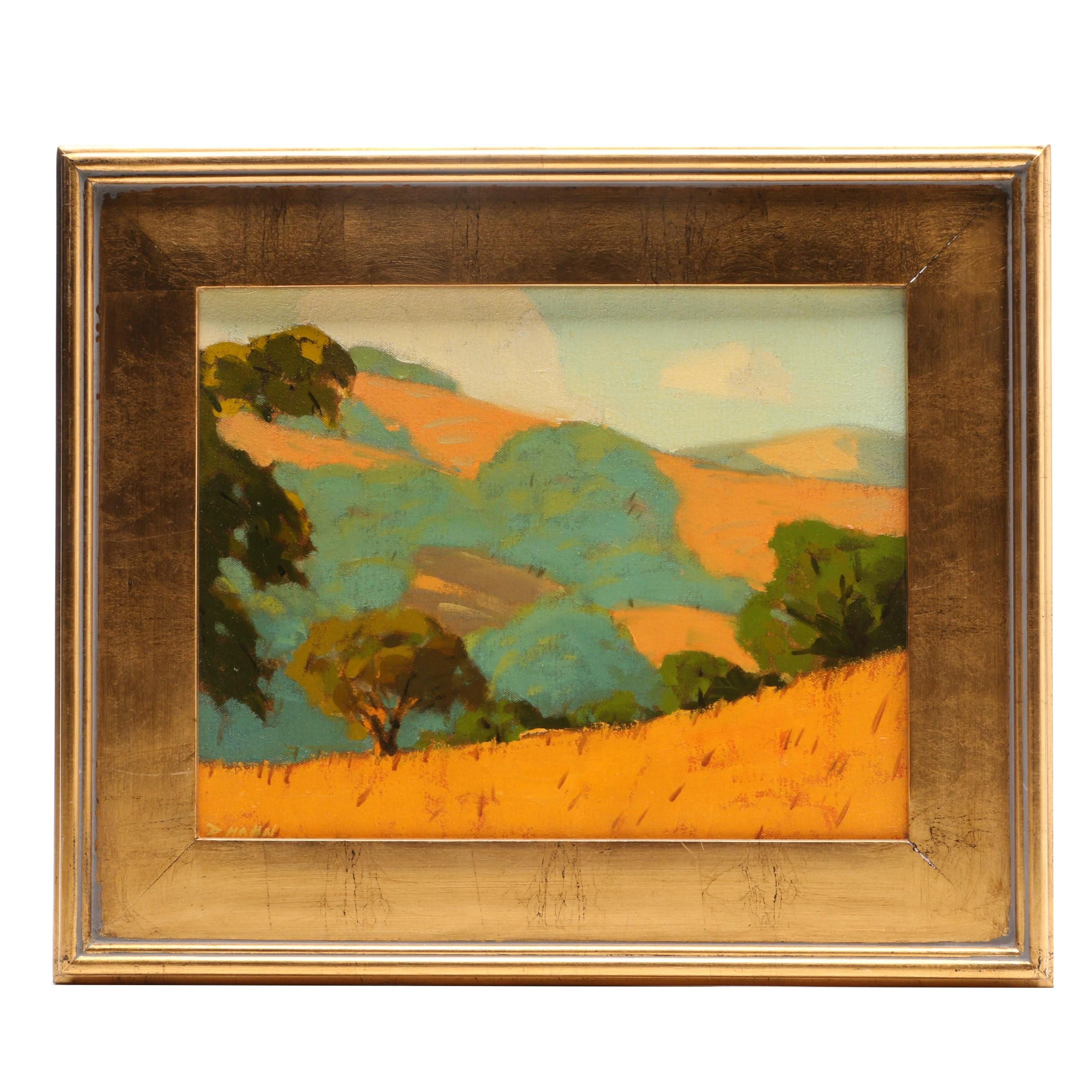 "Donny Hahn Landscape Oil Painting ""Marin County, California"""