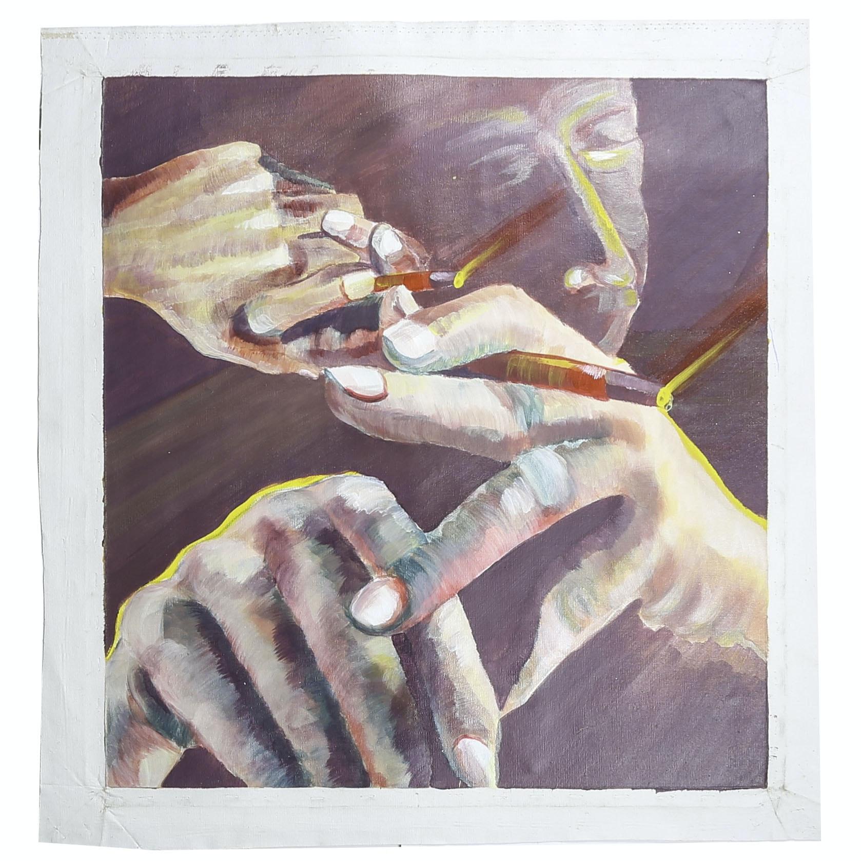 "Michael Schad Johnstone Acrylic Painting ""Smoke"""