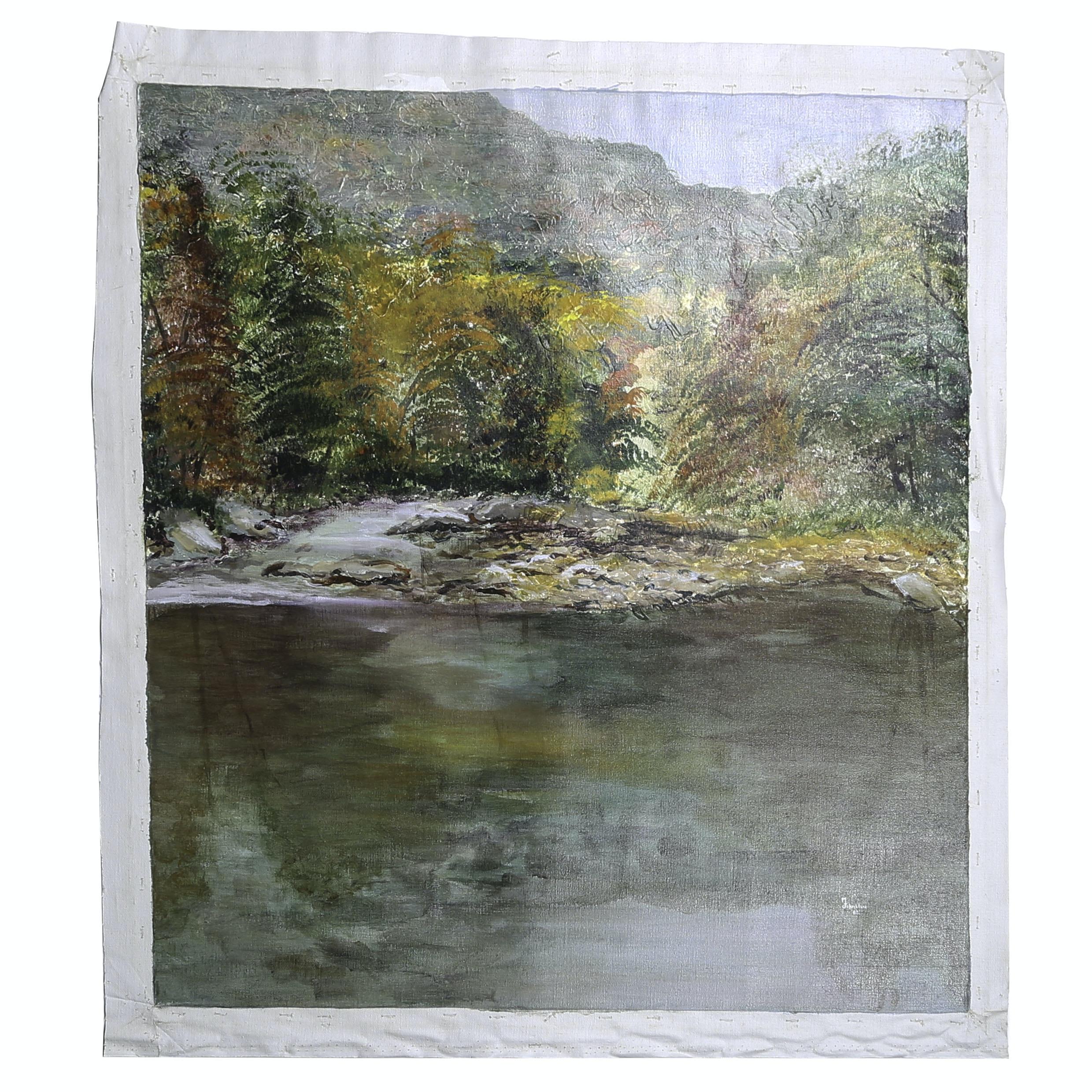 "Michael Schad Johnstone Landscape Acrylic Painting ""Pennsylvania"""