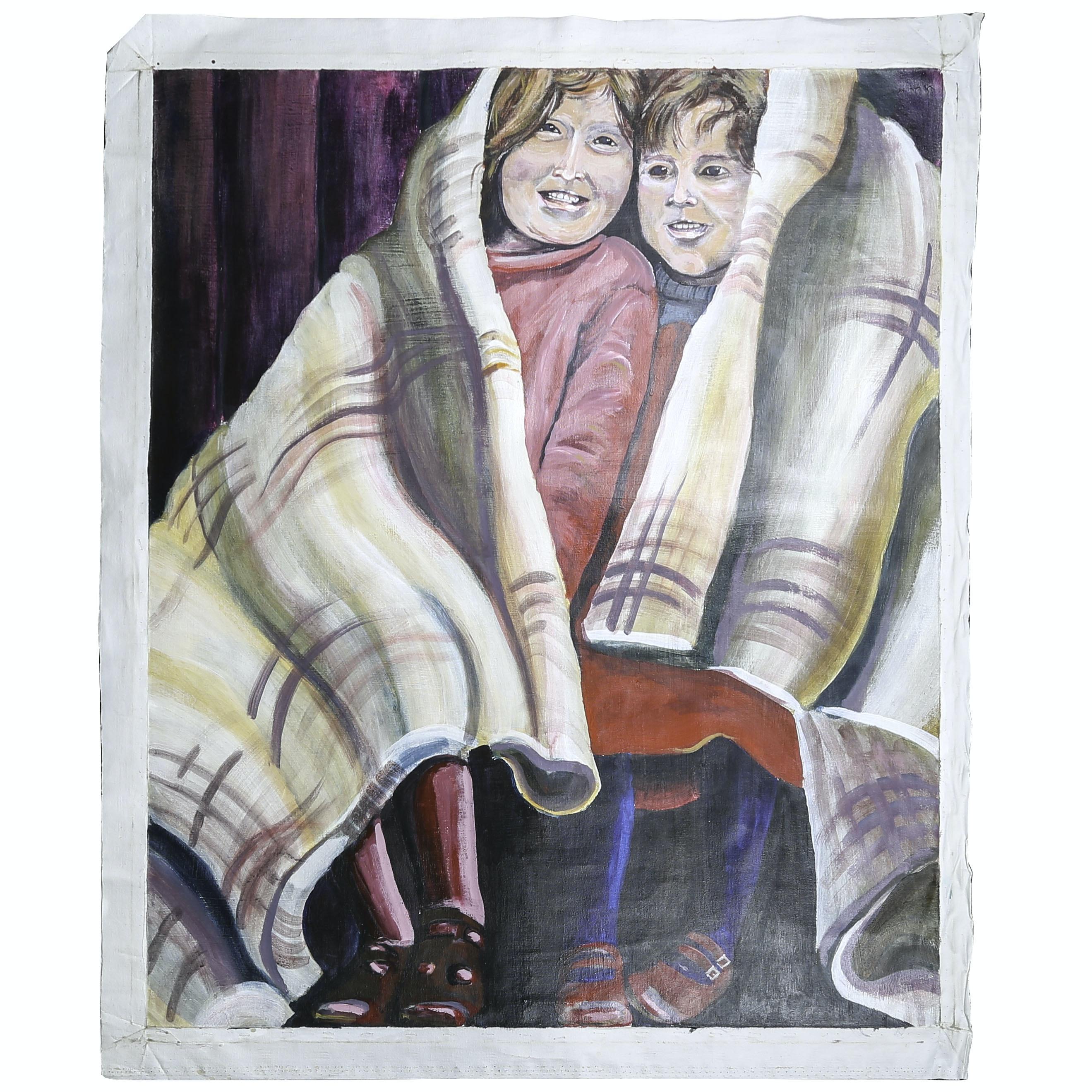 "Michael Schad Johnstone Acrylic Painting ""Wool One"""
