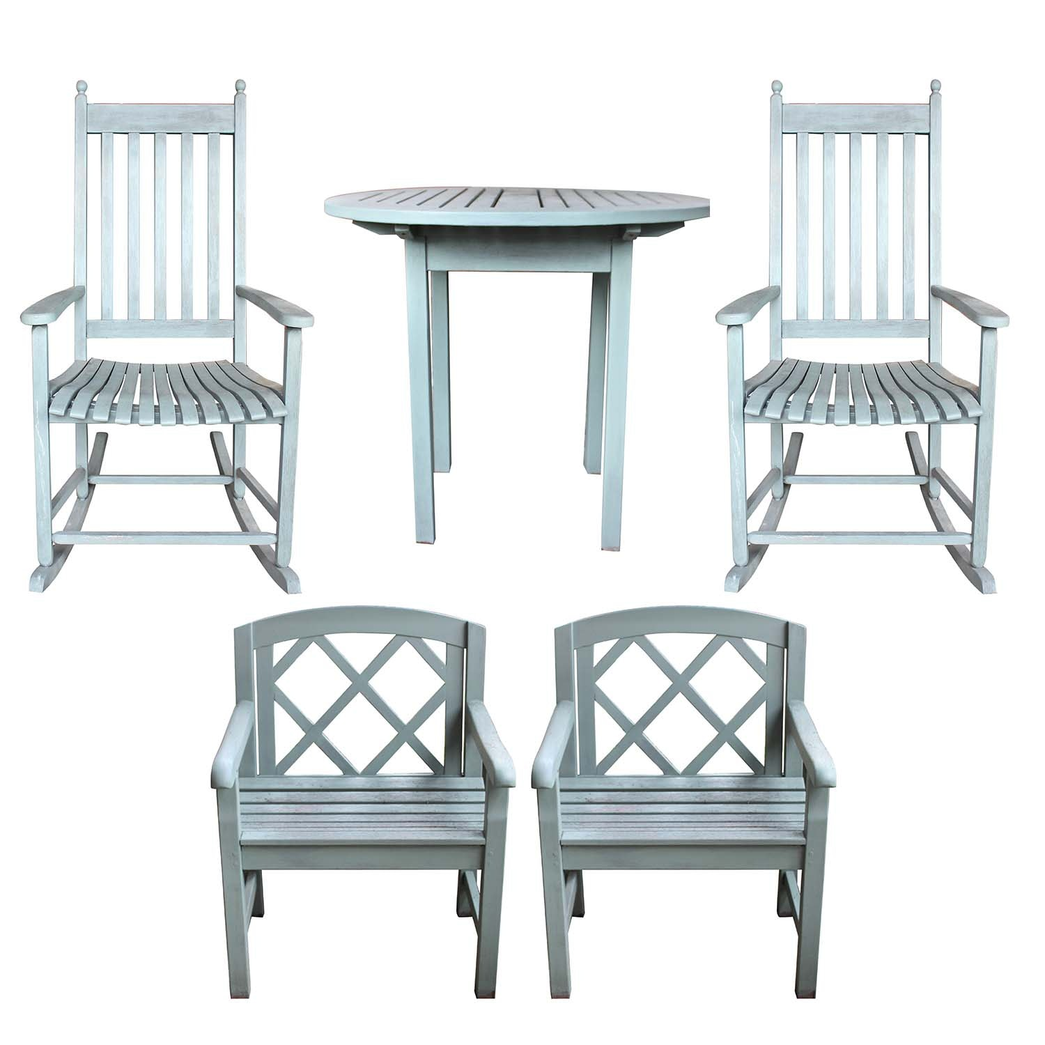 Five Piece Teak Outdoor Furniture Set