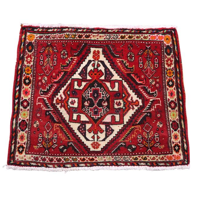 Hand-Knotted Persian Qashqai Wool Floor Mat