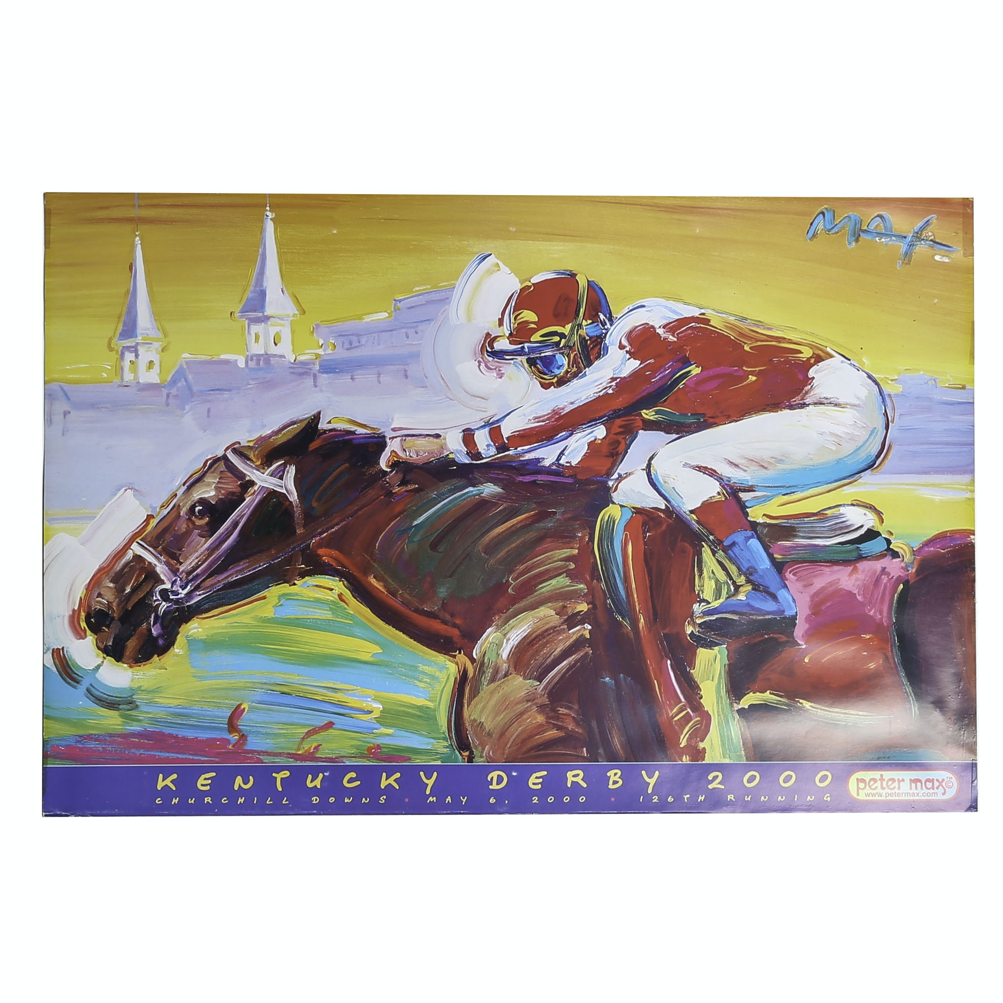 2000 Kentucky Derby Offset Lithograph Poster after Peter Max