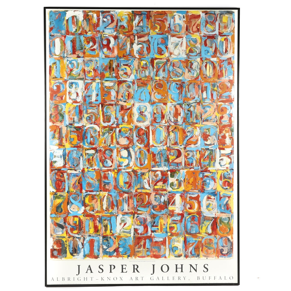 Albright-Knox Art Gallery Offset Lithograph Poster after Jasper Johns