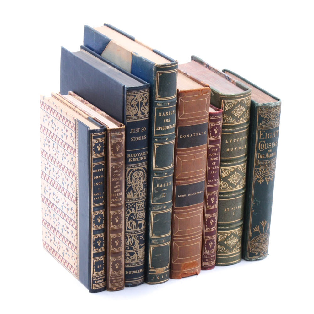 "Antique Novels Including ""My Novel"", ""Donatello"" and ""Eight Cousins"""