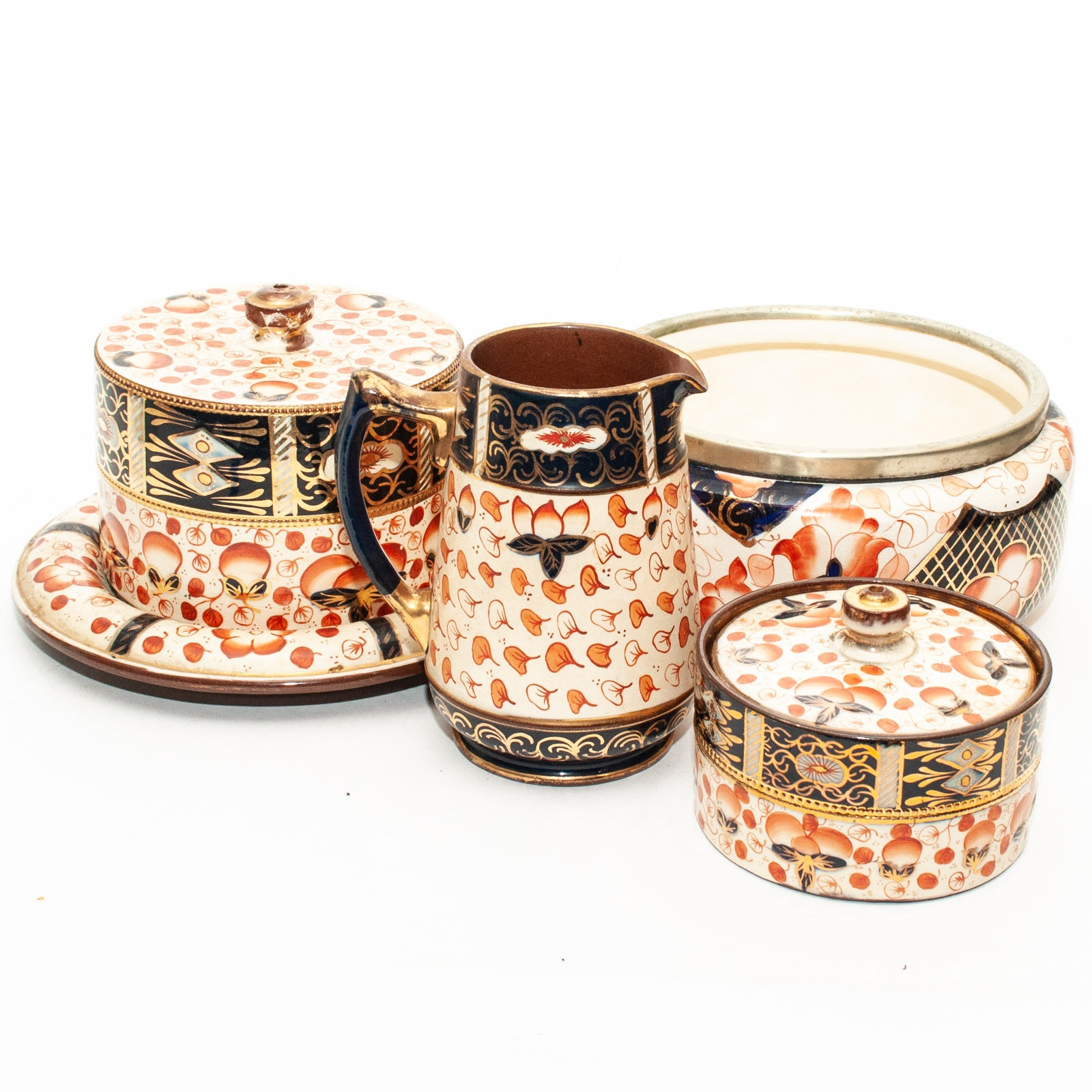 William Wood & Co. and Assorted Imari Patterned Eartenware Tableware
