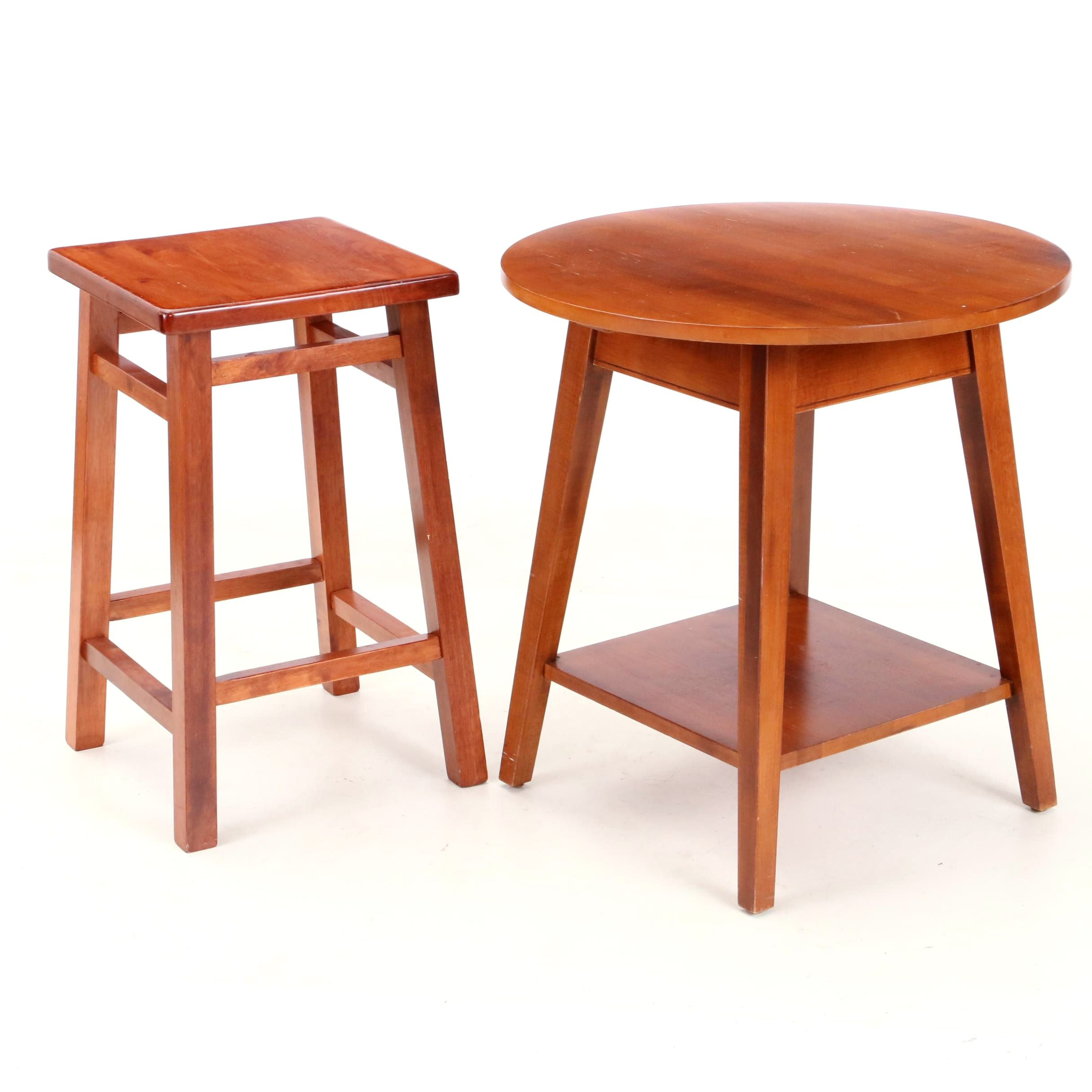 Contemporary Side Table and Stool
