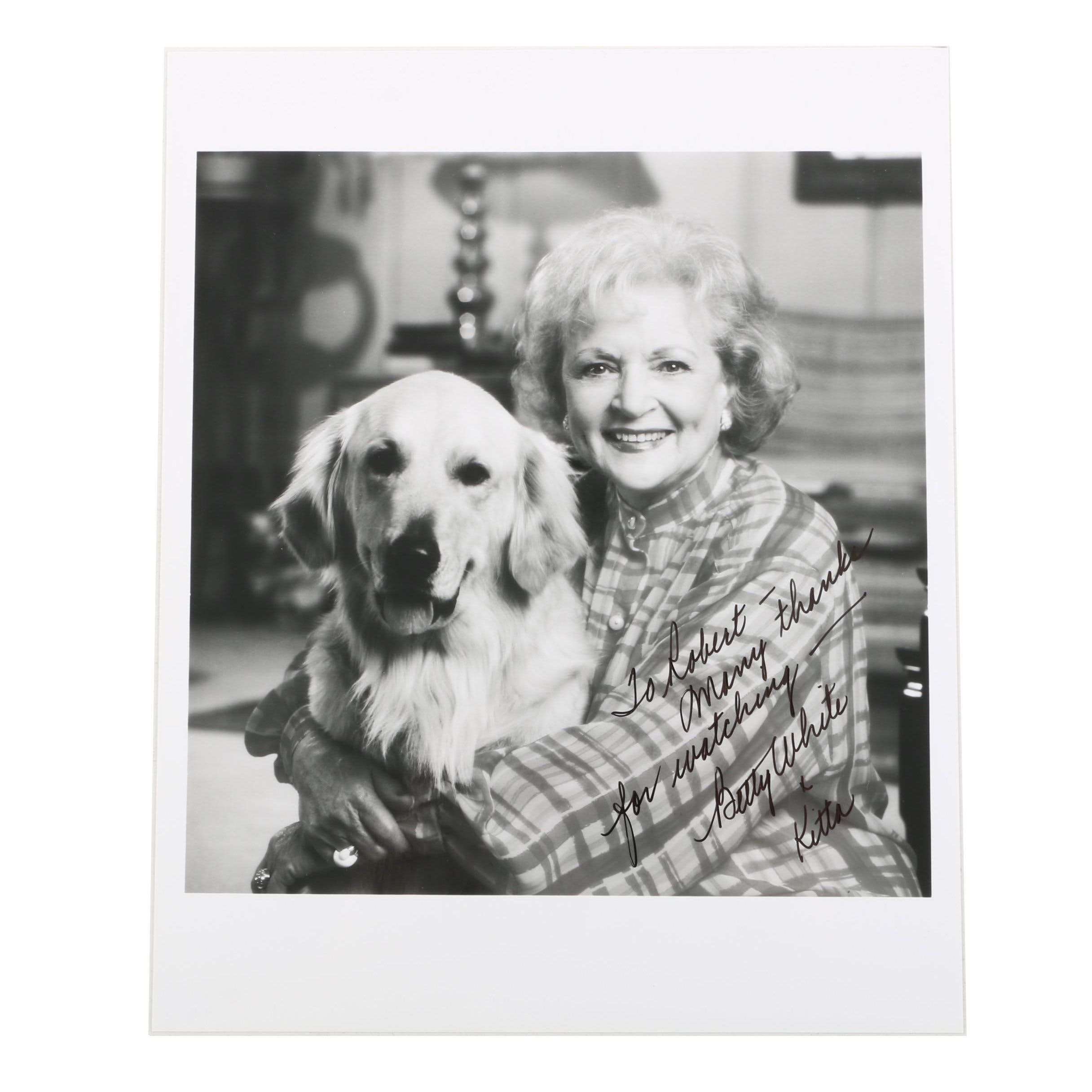 Betty White Signed and Inscribed Photograph