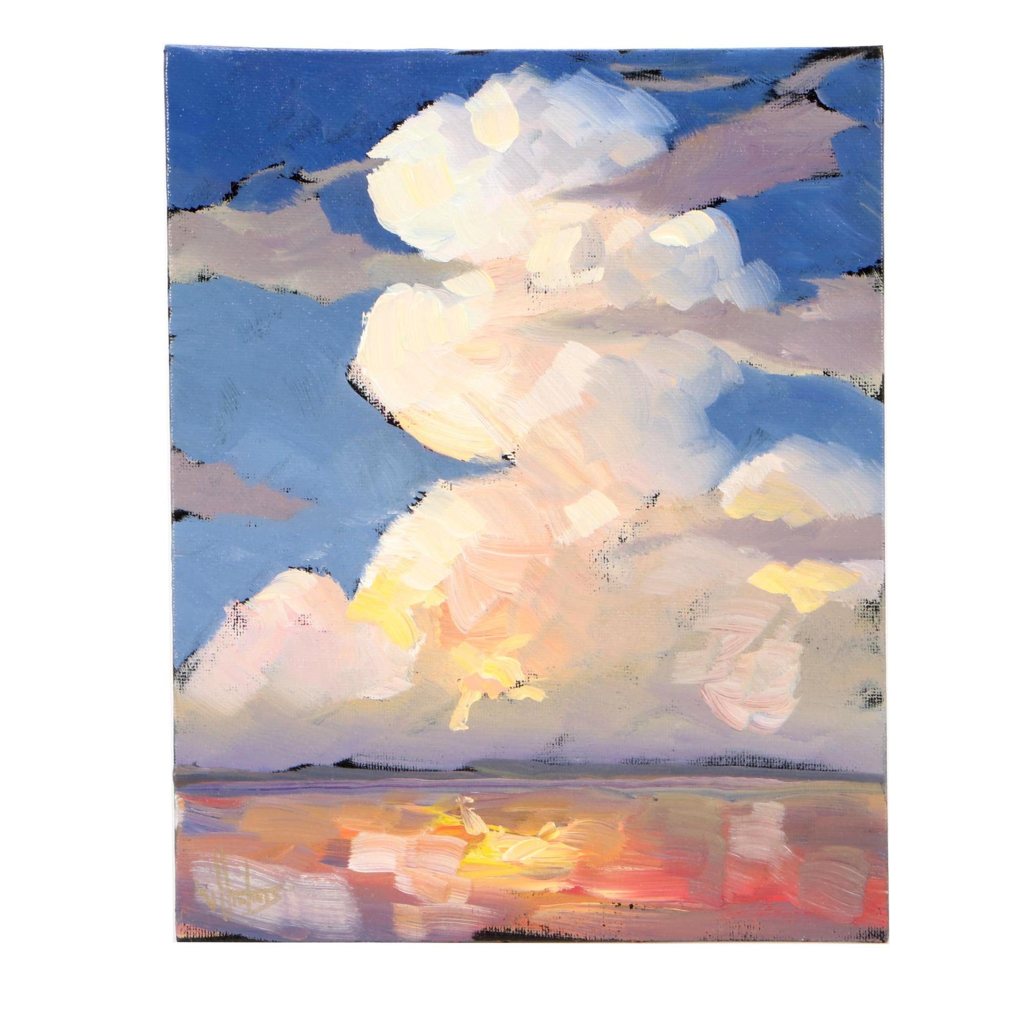William Hawkins Oil Painting on Board