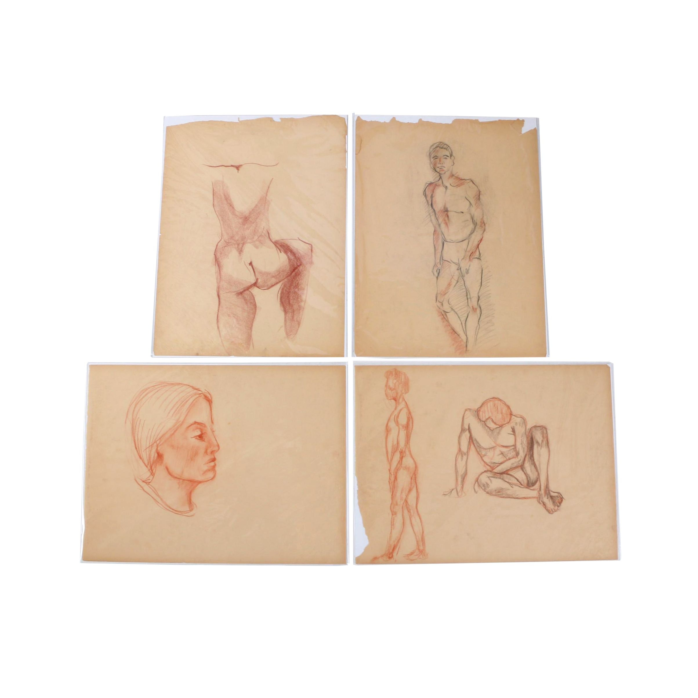Carol Mathews Charcoal and Conté Figure Drawings