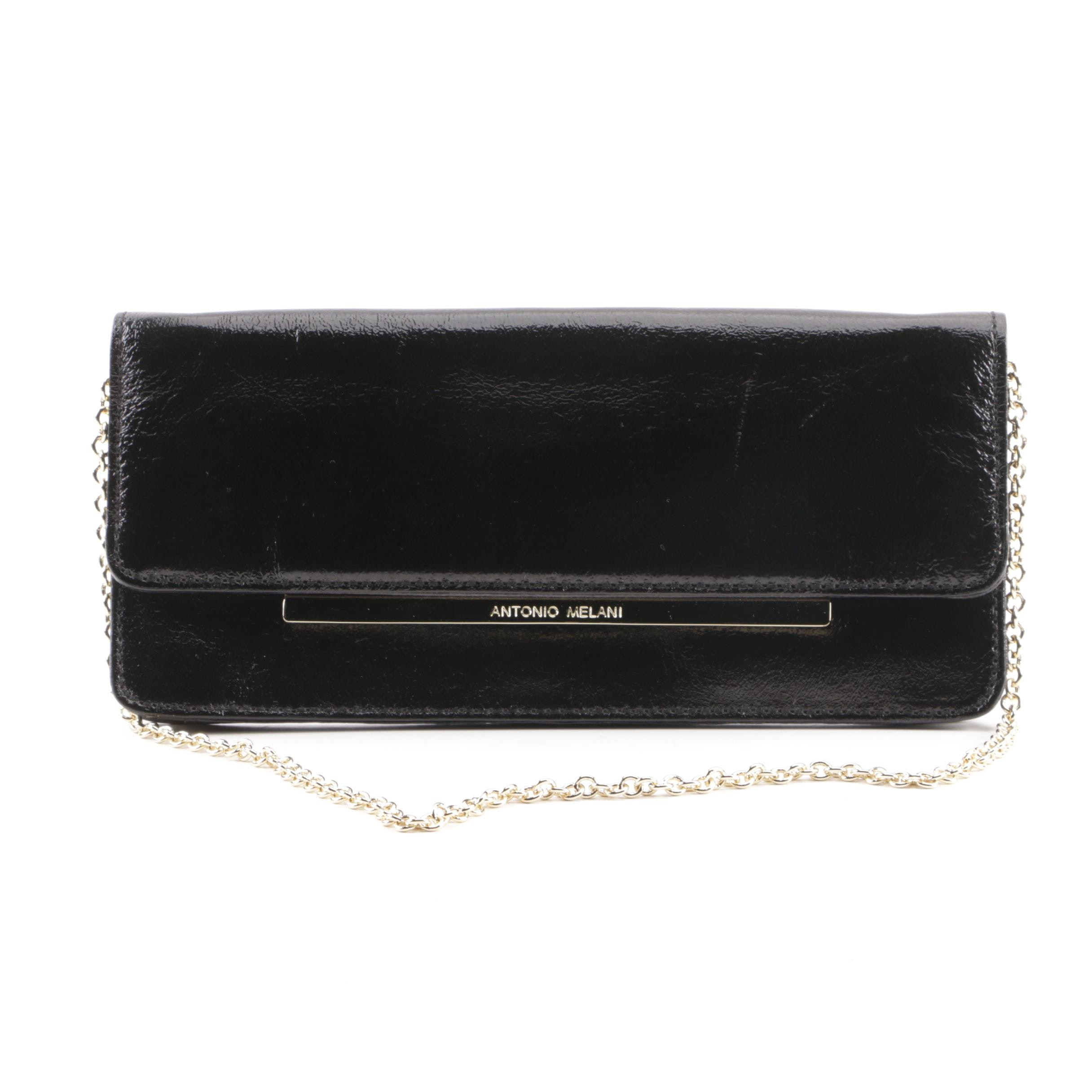 Antonio Melani Black Coated Canvas Clutch