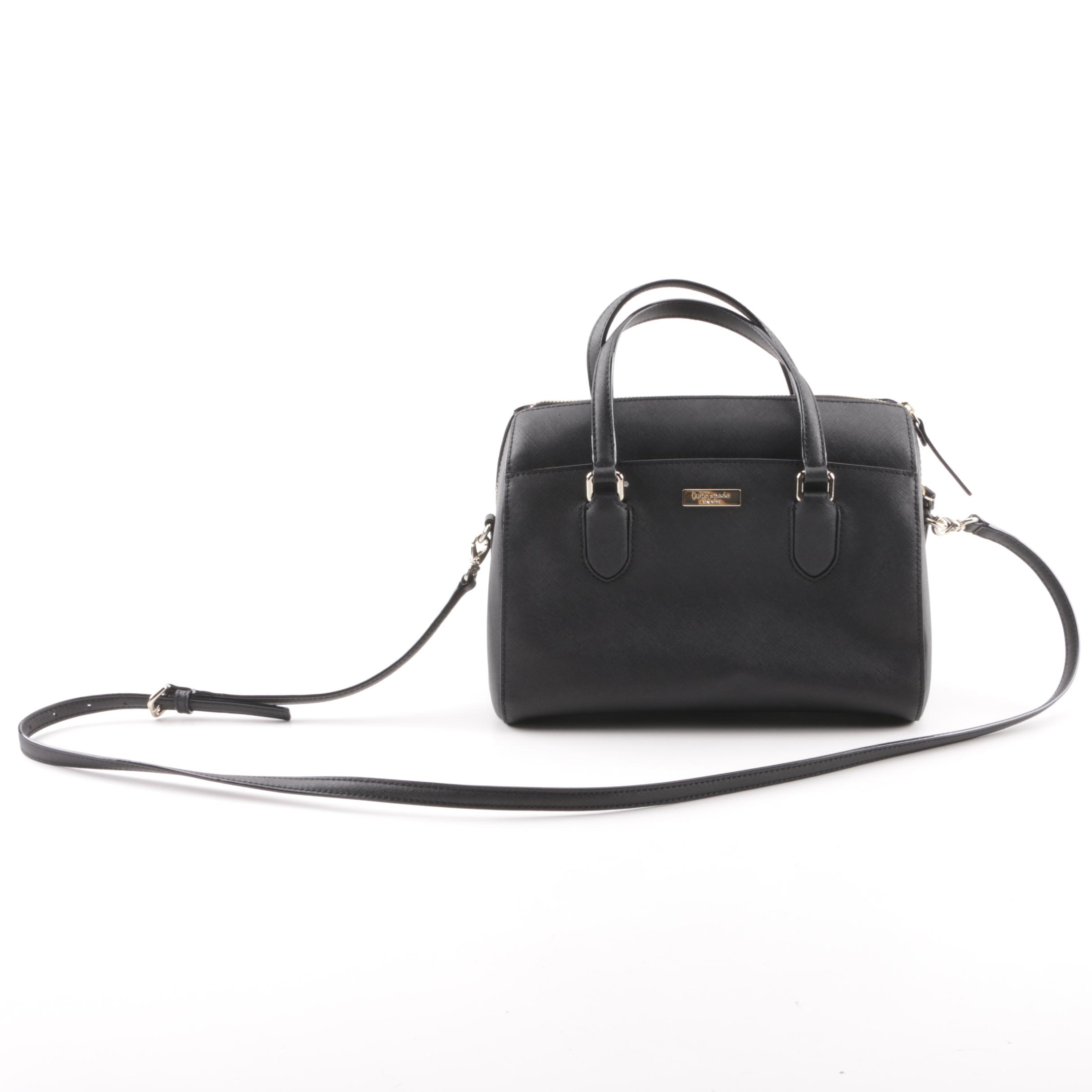 Kate Spade New York Black Leather Satchel