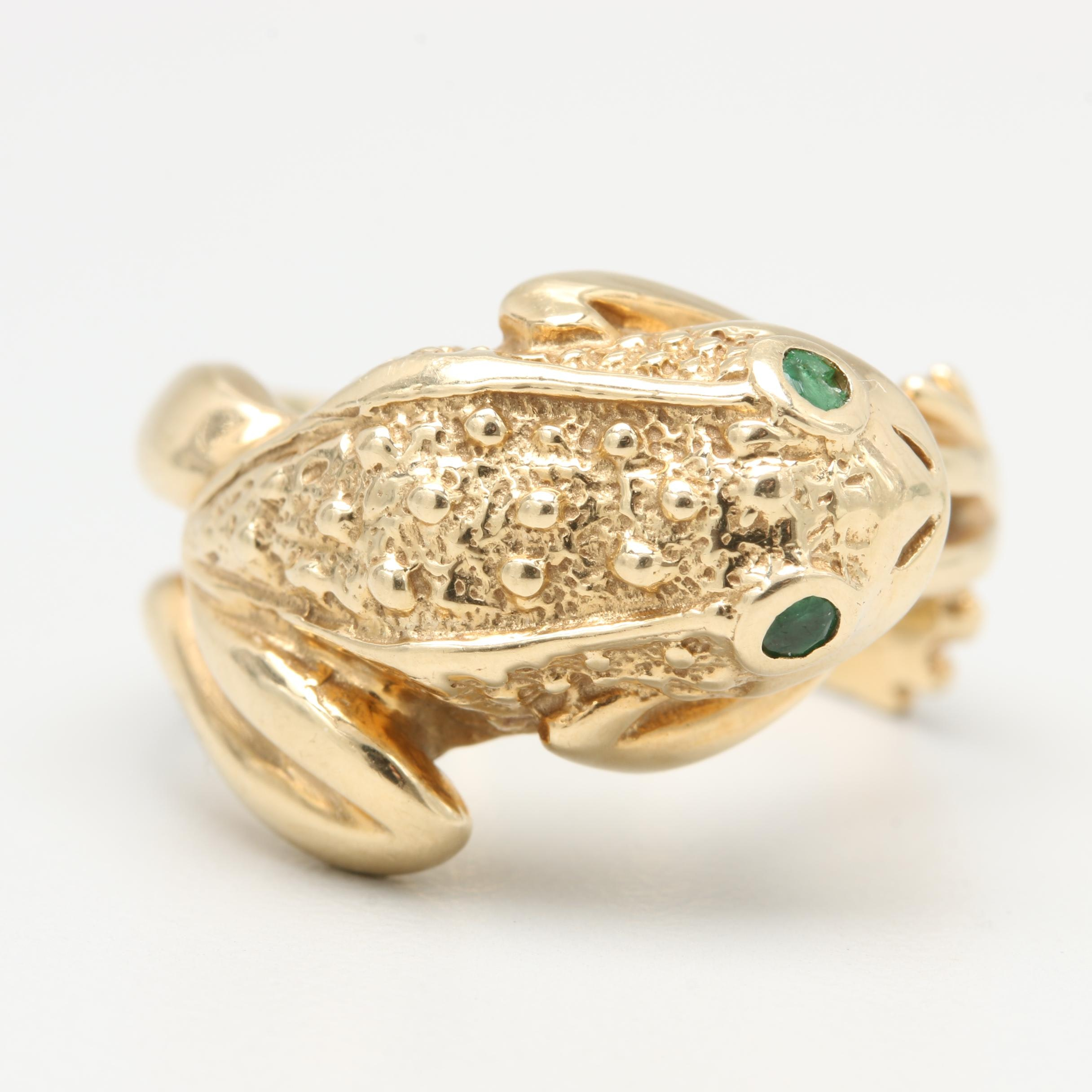 Hubertus Von Skal 14K Yellow Gold Emerald Ring