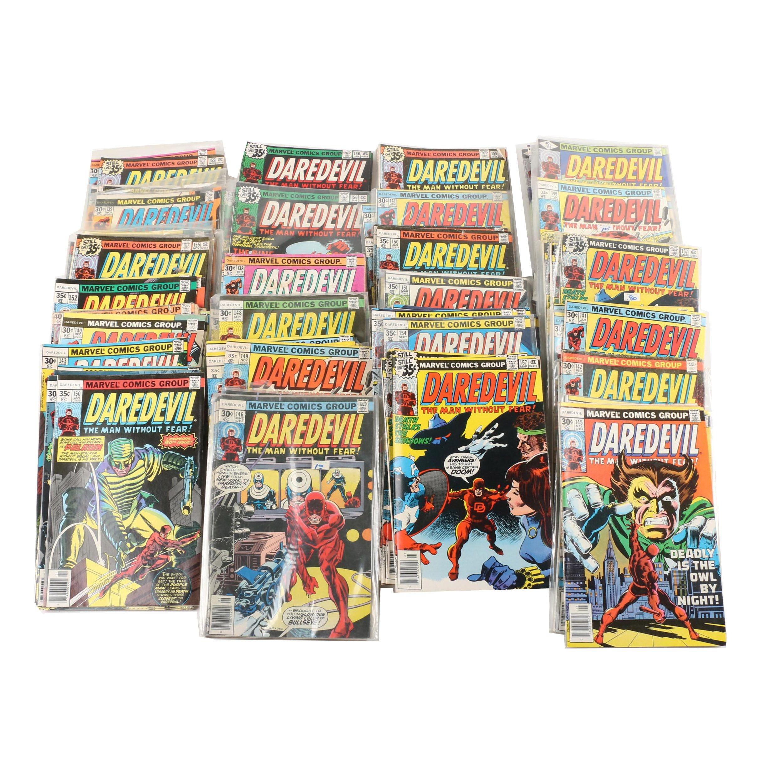 """Bronze Age """"Daredevil"""" Comic Books"""
