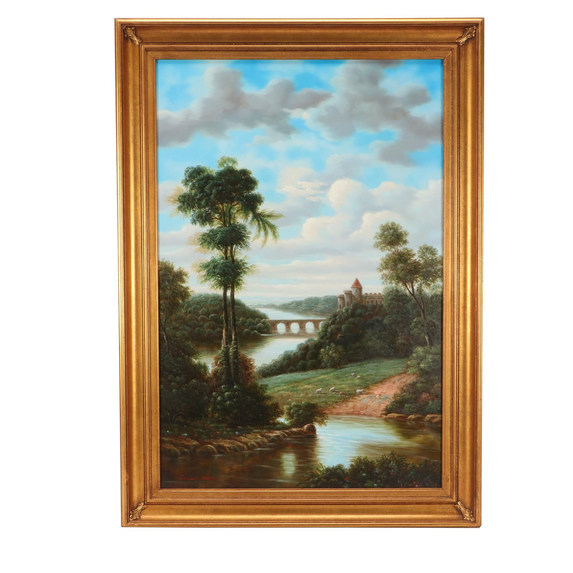 Dean Wilton Idyllic Landscape Oil Painting