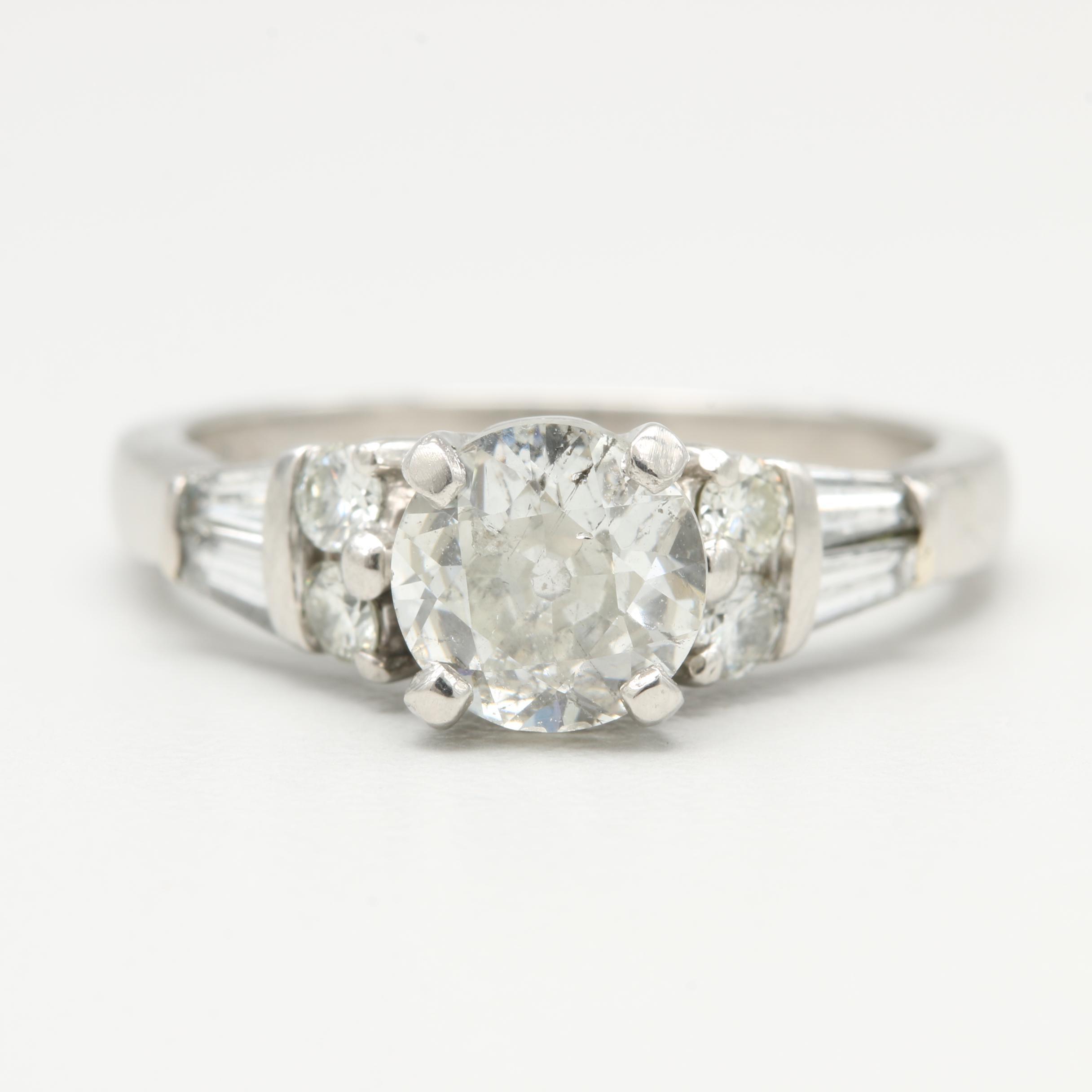 Platinum 1.45 CTW Diamond Ring
